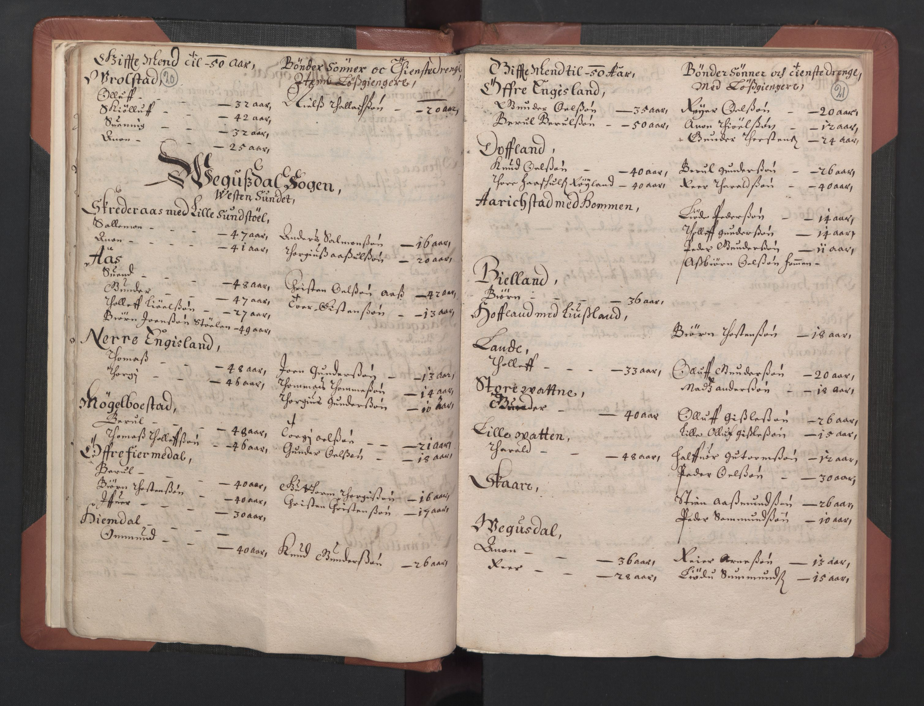 RA, Fogdenes og sorenskrivernes manntall 1664-1666, nr. 8: Råbyggelaget fogderi, 1664-1665, s. 20-21