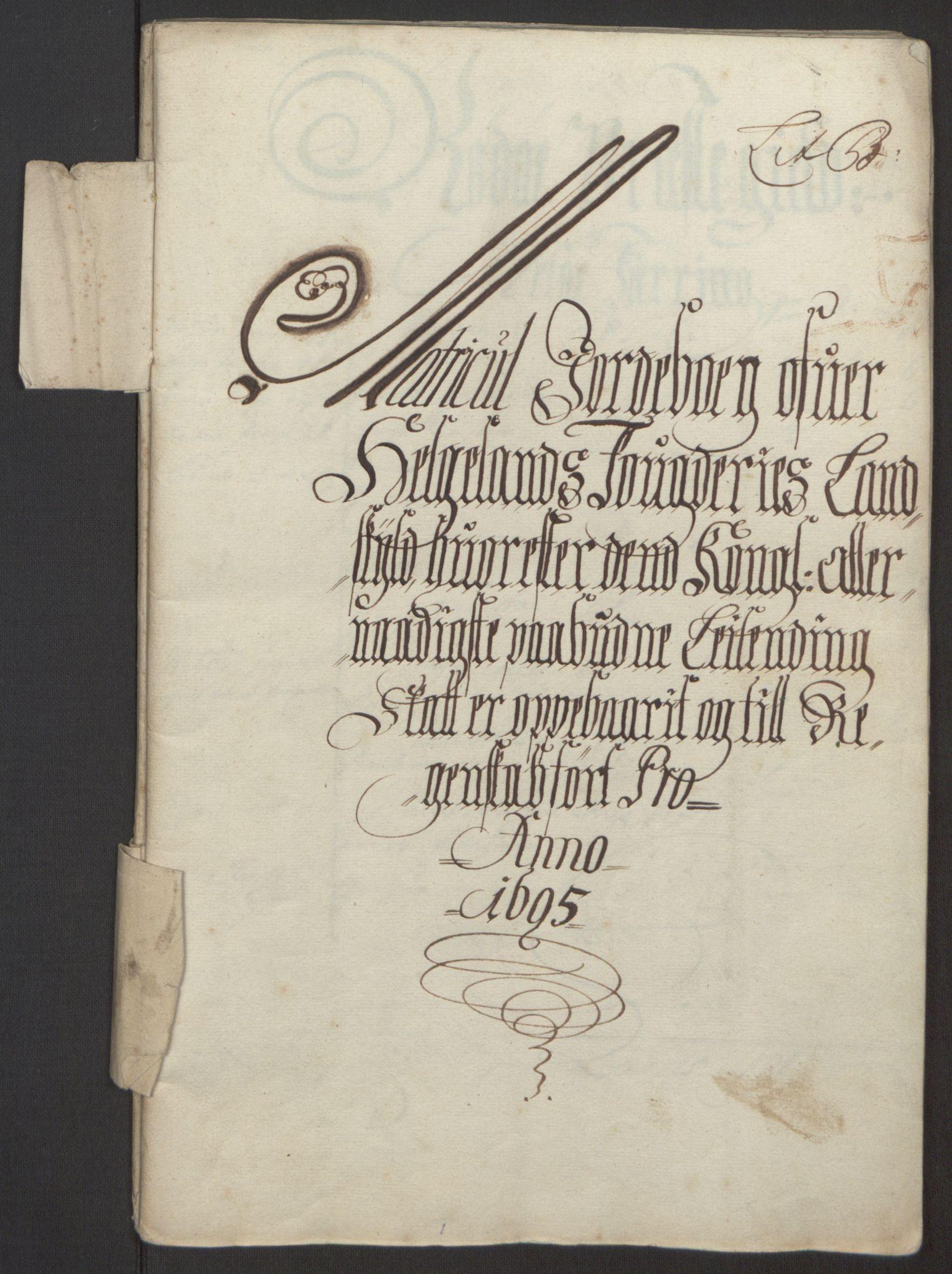 RA, Rentekammeret inntil 1814, Reviderte regnskaper, Fogderegnskap, R65/L4505: Fogderegnskap Helgeland, 1693-1696, s. 283