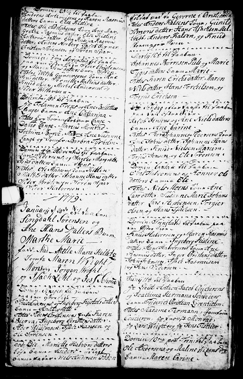SAKO, Porsgrunn kirkebøker , G/Ga/L0001: Klokkerbok nr. I 1, 1766-1790, s. 38-39