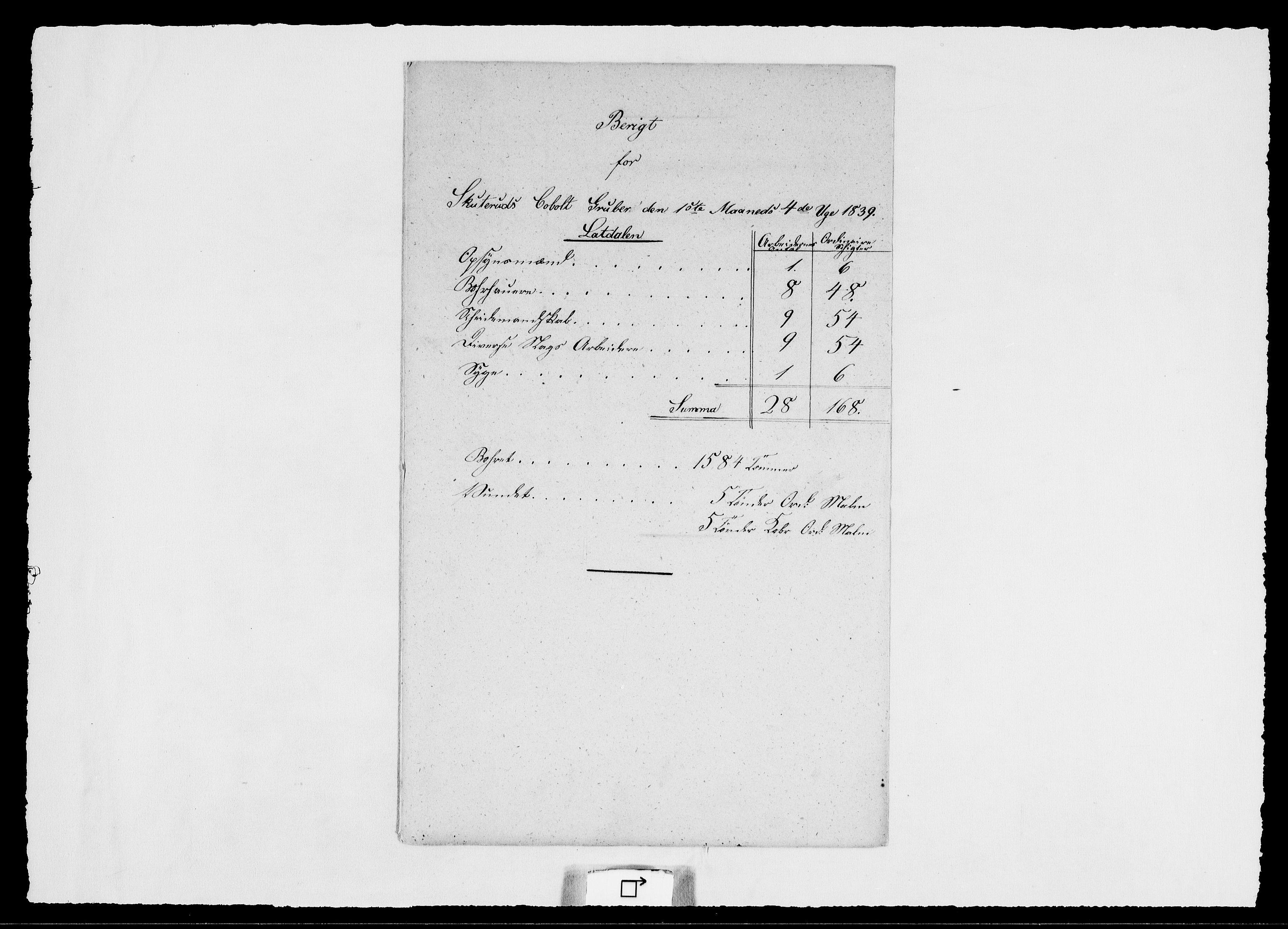 RA, Modums Blaafarveværk, G/Ge/L0355, 1839-1848, s. 2