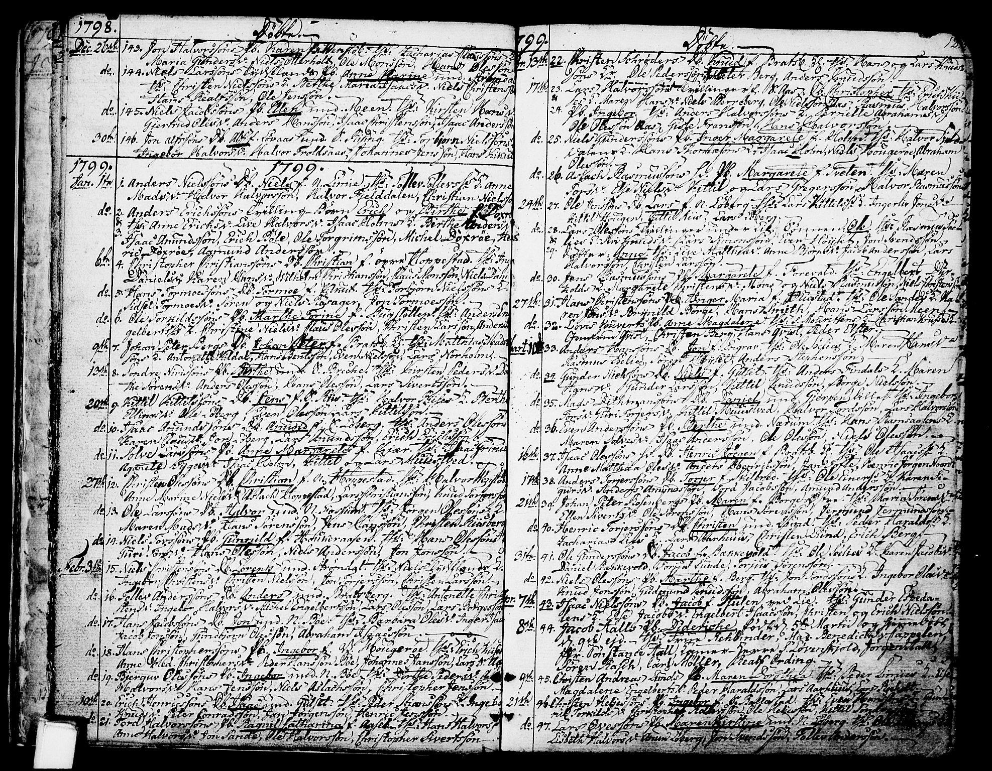 SAKO, Gjerpen kirkebøker, F/Fa/L0003: Ministerialbok nr. 3, 1796-1814, s. 12