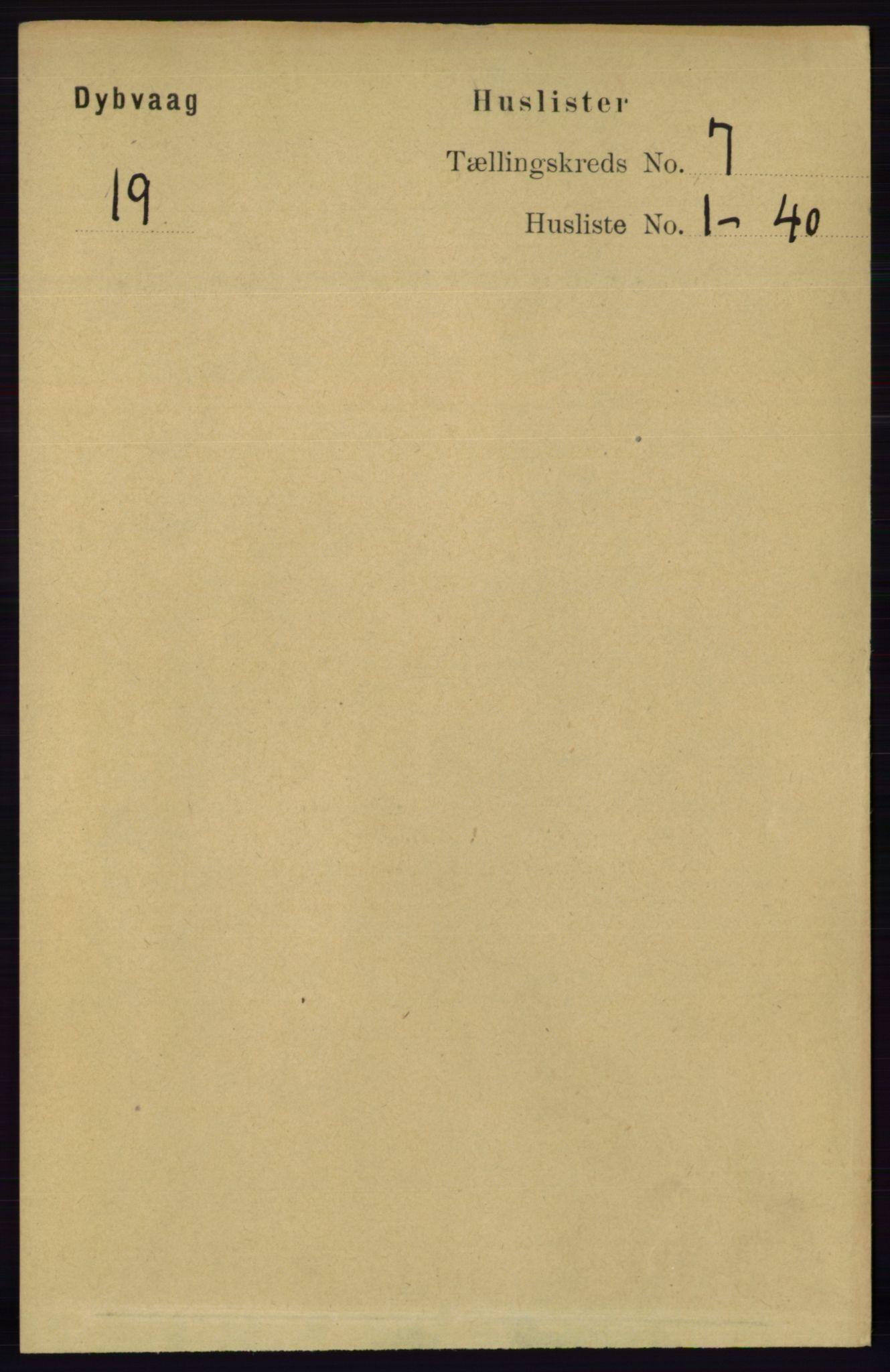 RA, Folketelling 1891 for 0915 Dypvåg herred, 1891, s. 2366