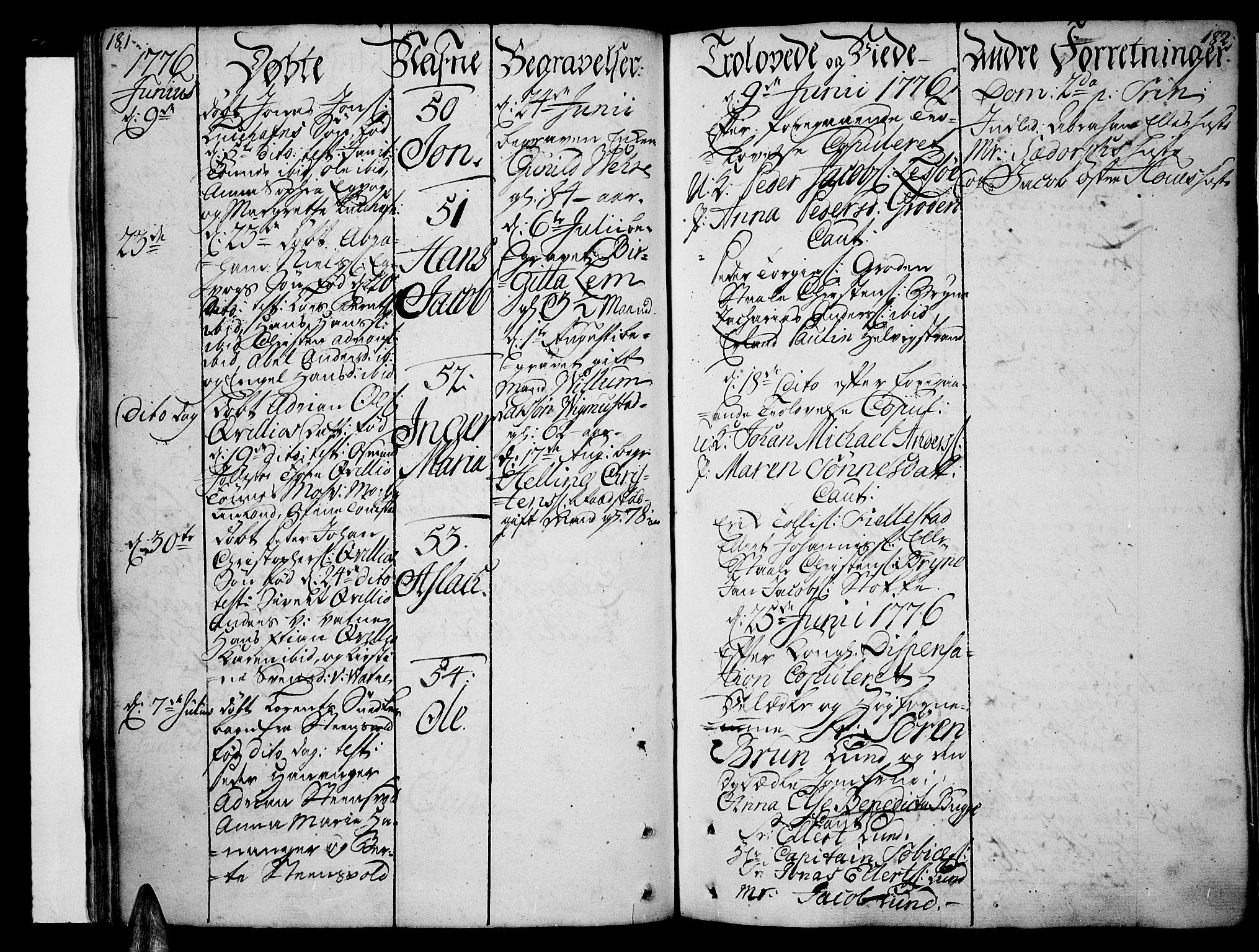 SAK, Lista sokneprestkontor, F/Fa/L0004: Ministerialbok nr. A 4, 1768-1794, s. 181-182