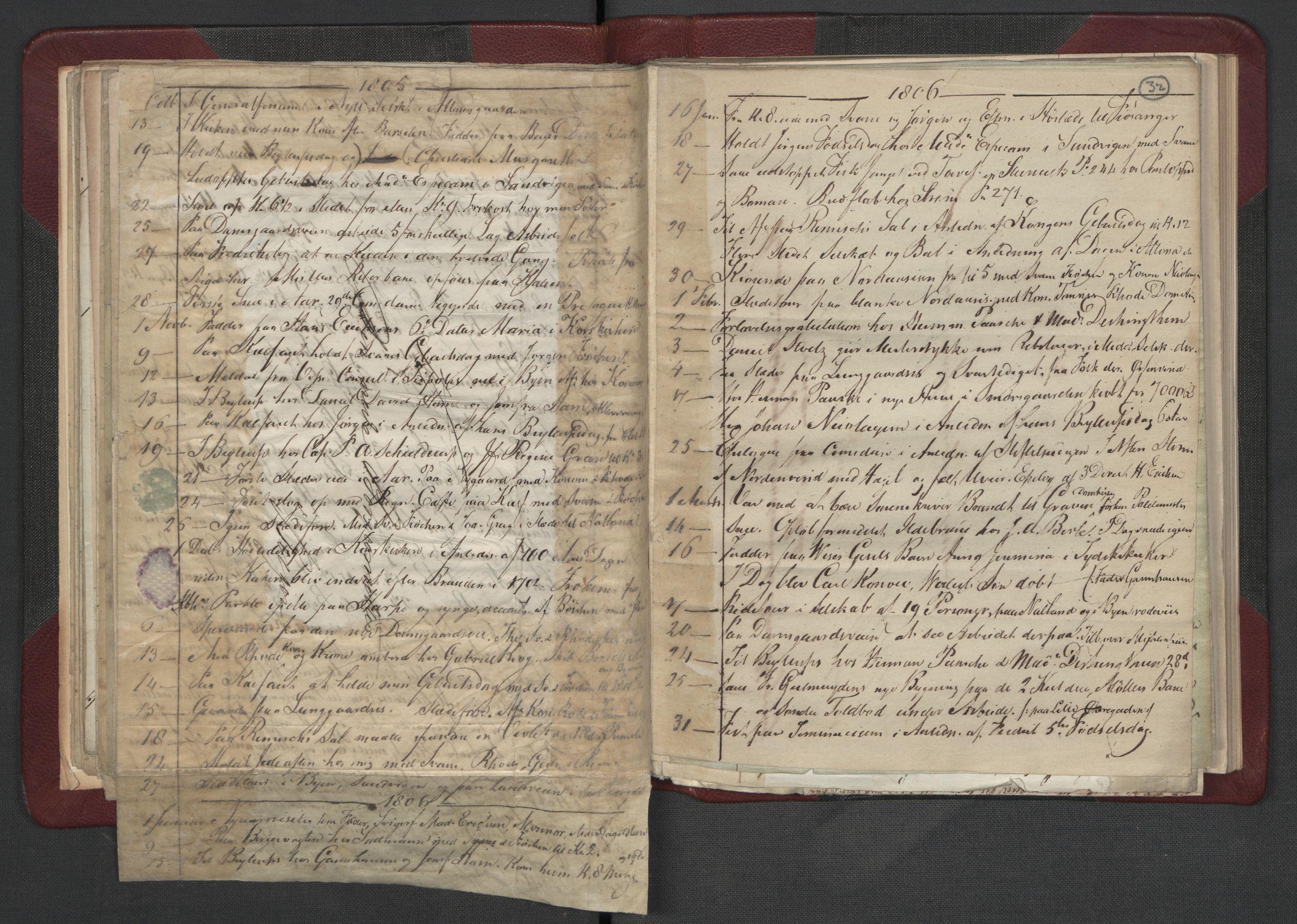 RA, Meltzer, Fredrik, F/L0002: Dagbok, 1796-1808, s. 31b-32a