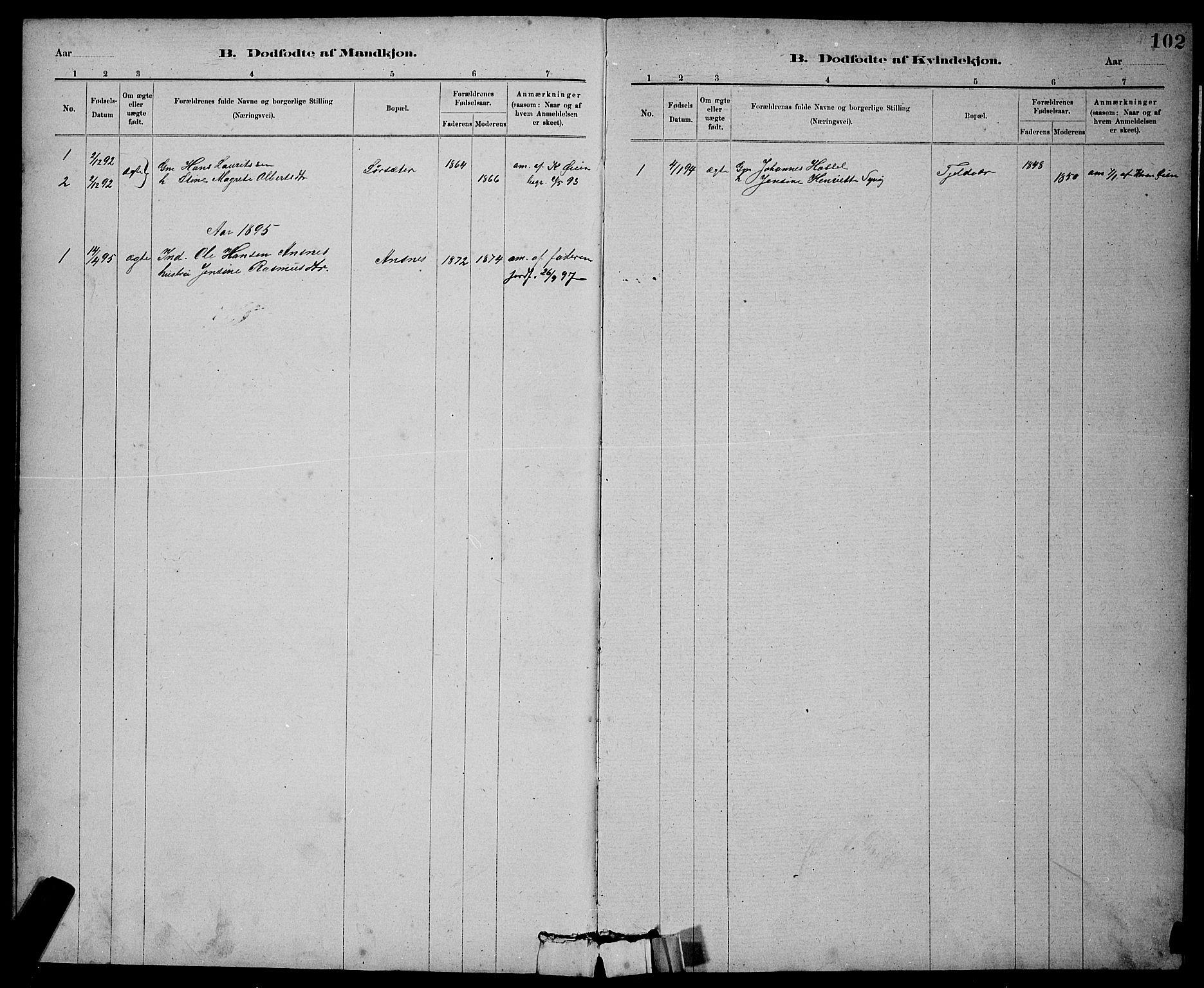 SAT, Ministerialprotokoller, klokkerbøker og fødselsregistre - Sør-Trøndelag, 637/L0562: Klokkerbok nr. 637C03, 1883-1898, s. 102