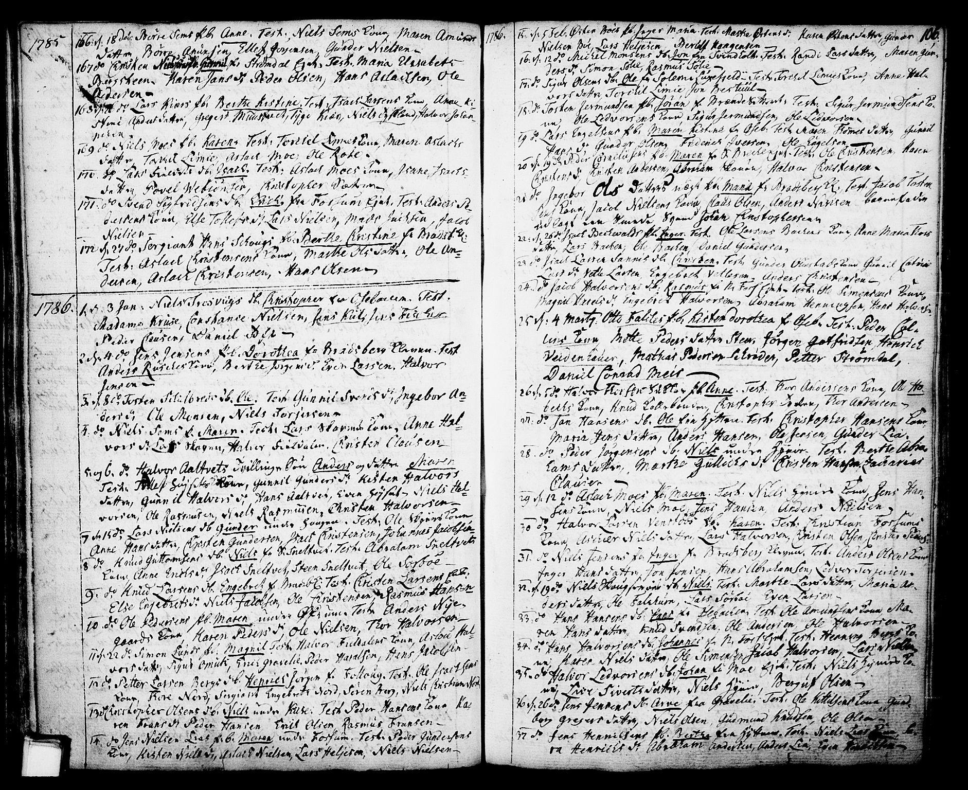 SAKO, Gjerpen kirkebøker, F/Fa/L0002: Ministerialbok nr. 2, 1747-1795, s. 106