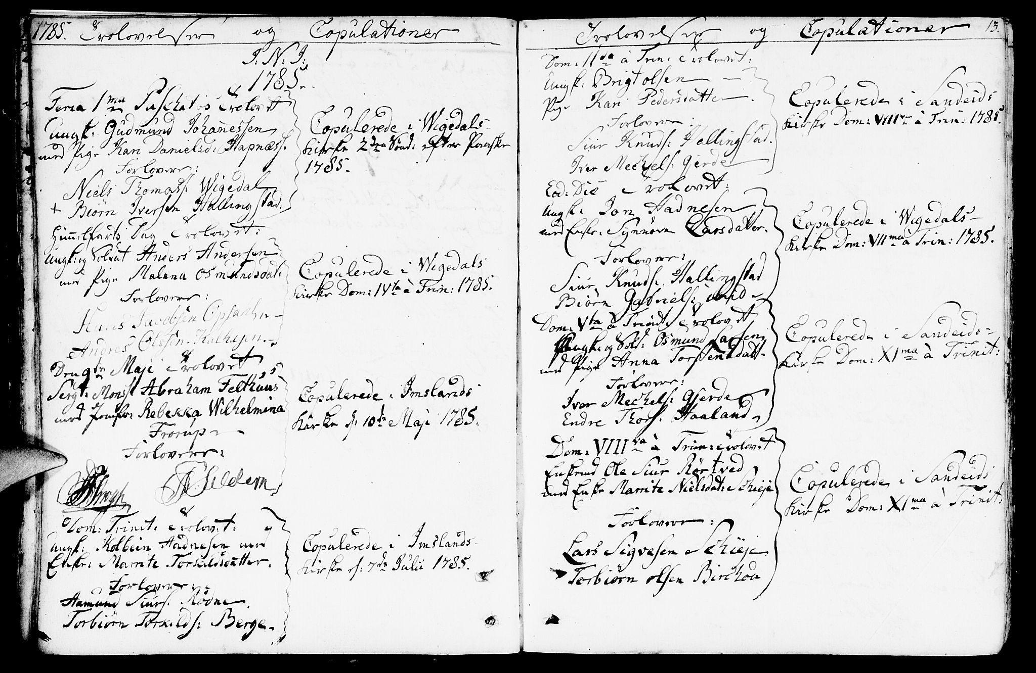 SAST, Vikedal sokneprestkontor, IV: Ministerialbok nr. A 2, 1779-1817, s. 13