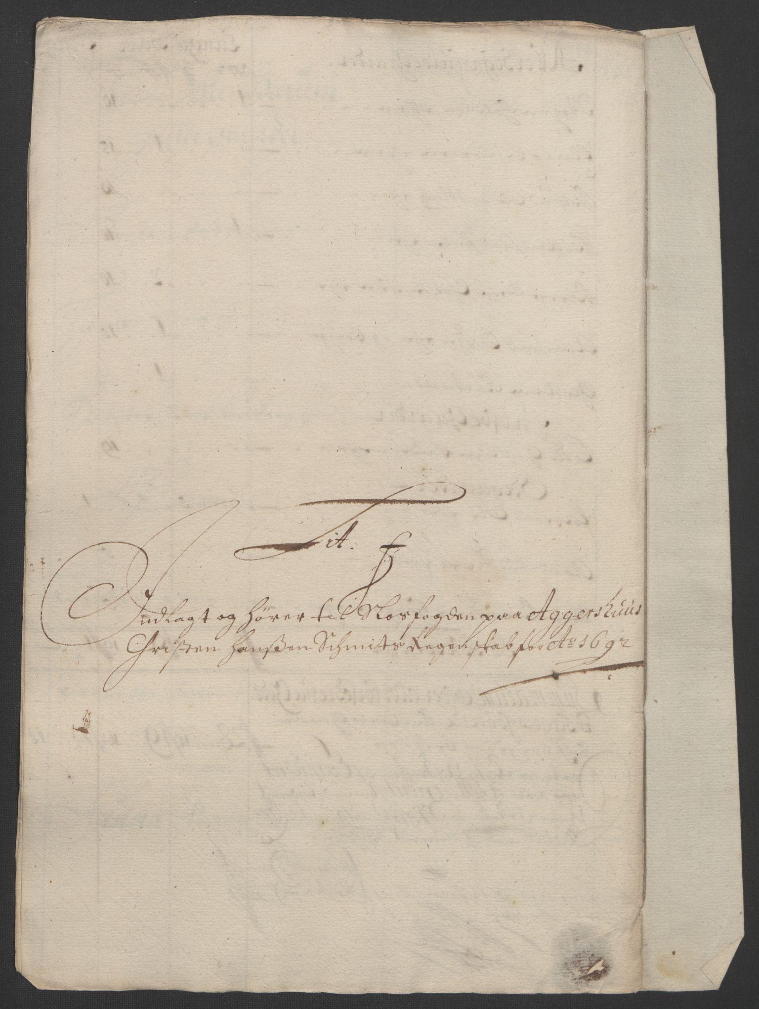 RA, Rentekammeret inntil 1814, Reviderte regnskaper, Fogderegnskap, R08/L0426: Fogderegnskap Aker, 1692-1693, s. 89