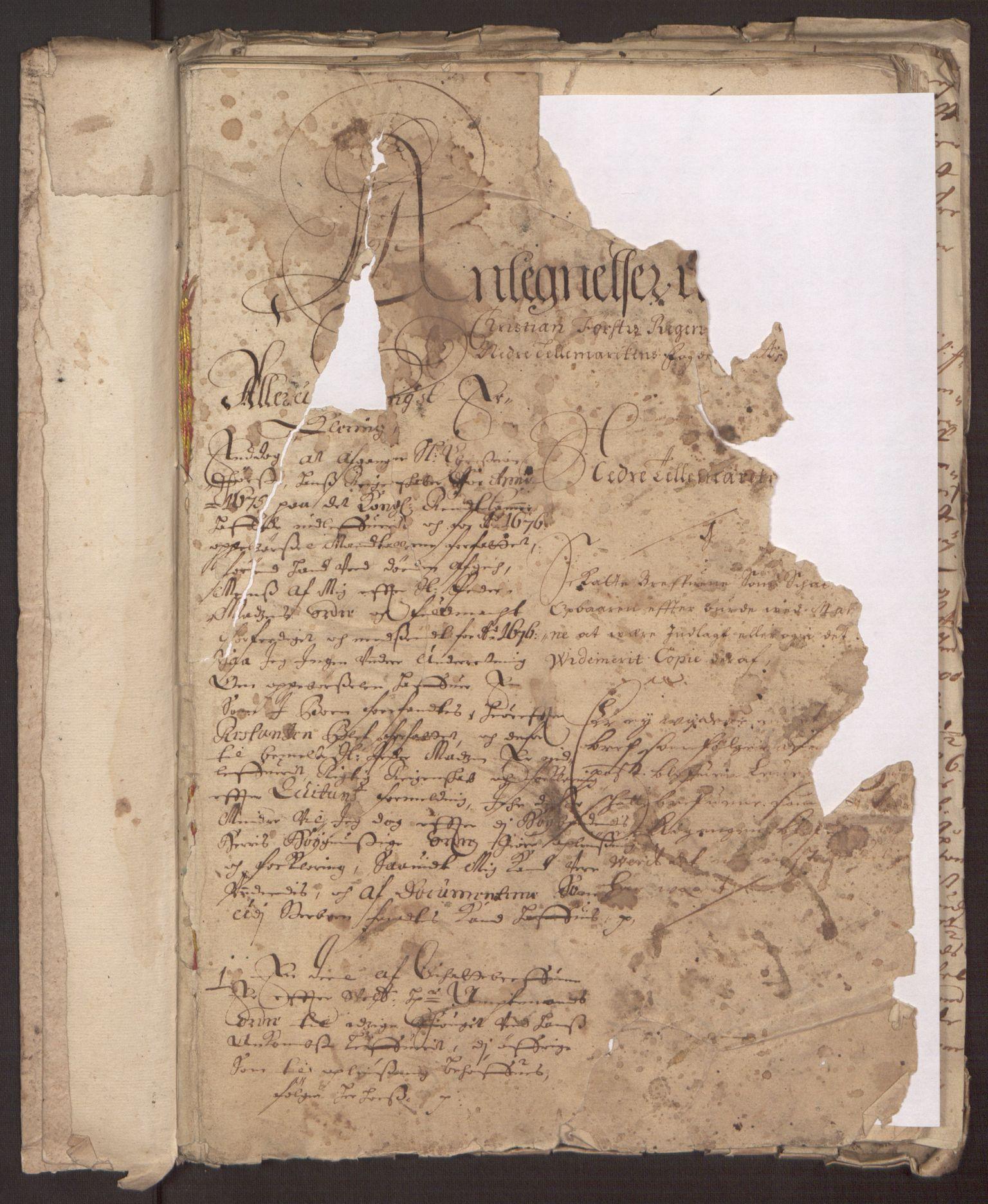 RA, Rentekammeret inntil 1814, Reviderte regnskaper, Fogderegnskap, R35/L2066: Fogderegnskap Øvre og Nedre Telemark, 1676, s. 245