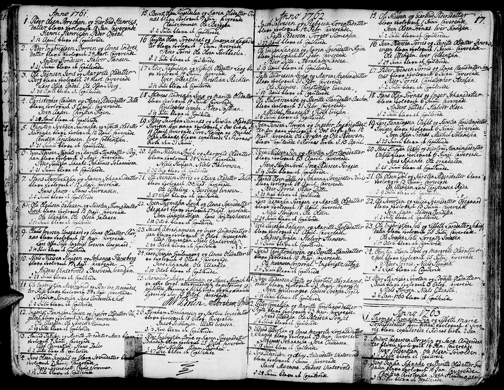 SAT, Ministerialprotokoller, klokkerbøker og fødselsregistre - Sør-Trøndelag, 681/L0925: Ministerialbok nr. 681A03, 1727-1766, s. 17