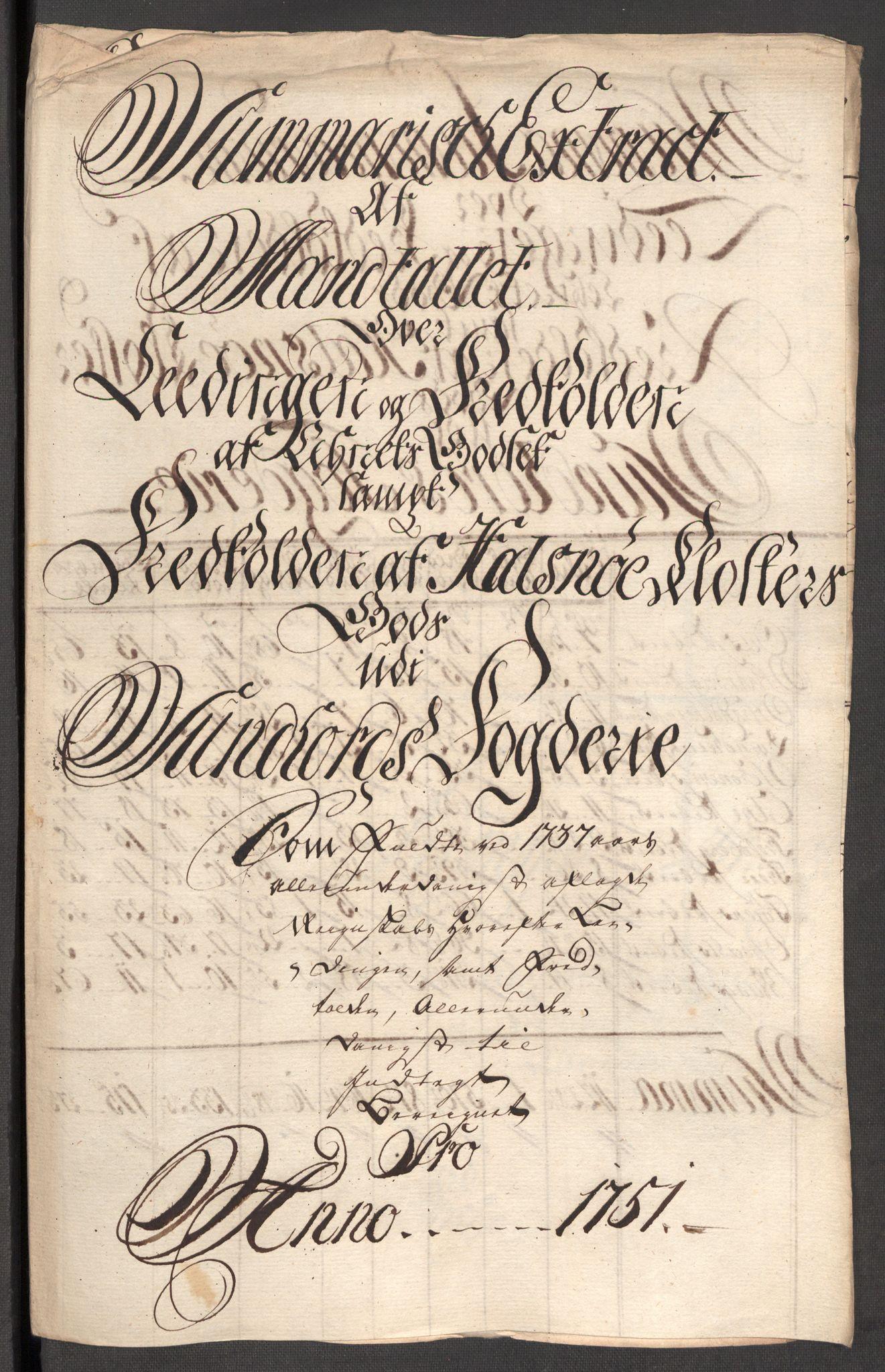 RA, Rentekammeret inntil 1814, Reviderte regnskaper, Fogderegnskap, R48/L3056: Fogderegnskap Sunnhordland og Hardanger, 1751, s. 185