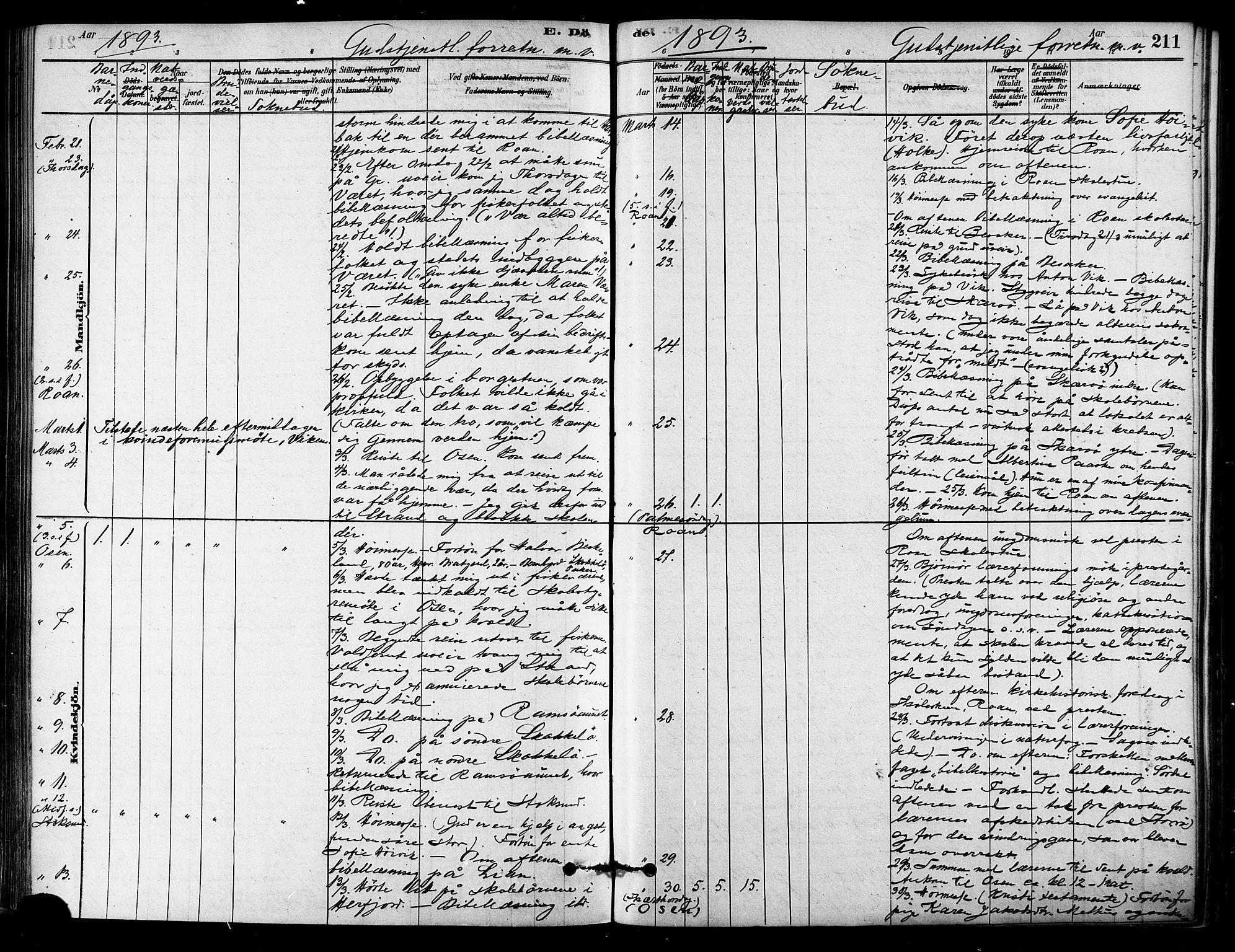 SAT, Ministerialprotokoller, klokkerbøker og fødselsregistre - Sør-Trøndelag, 657/L0707: Ministerialbok nr. 657A08, 1879-1893, s. 211