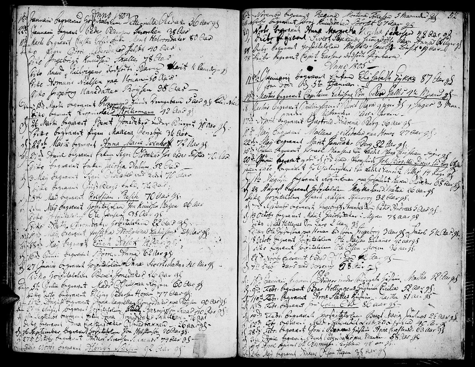SAT, Ministerialprotokoller, klokkerbøker og fødselsregistre - Møre og Romsdal, 558/L0687: Ministerialbok nr. 558A01, 1798-1818, s. 52