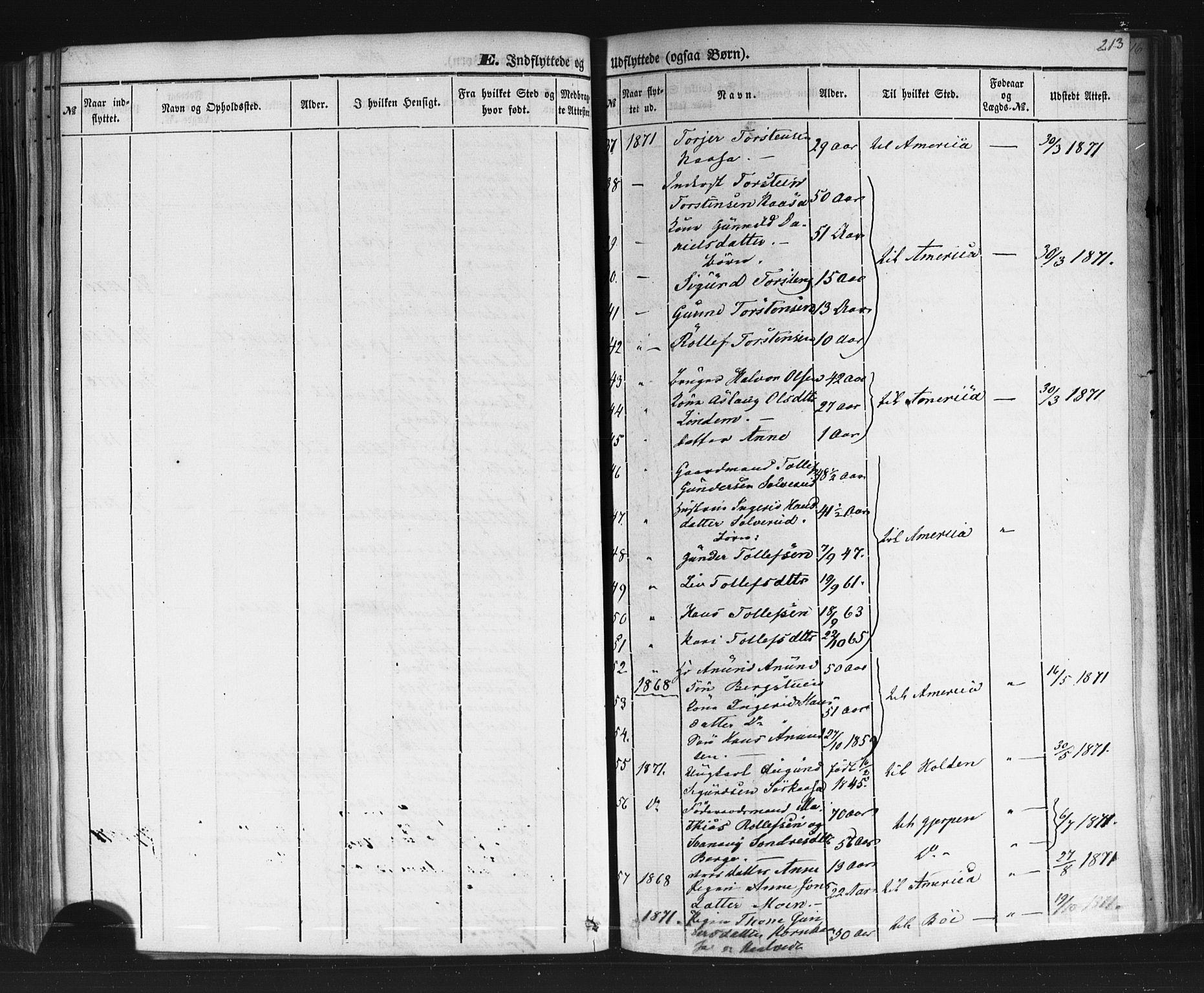 SAKO, Sauherad kirkebøker, F/Fb/L0001: Ministerialbok nr. II 1, 1851-1877, s. 213