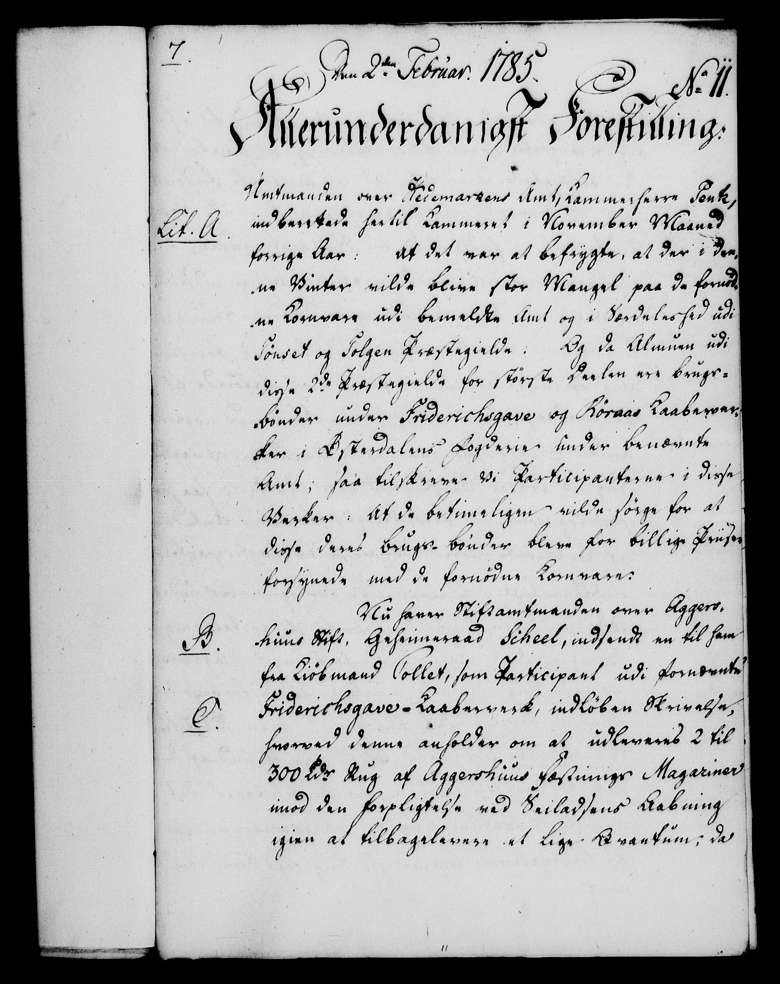 RA, Rentekammeret, Kammerkanselliet, G/Gf/Gfa/L0067: Norsk relasjons- og resolusjonsprotokoll (merket RK 52.67), 1785, s. 126