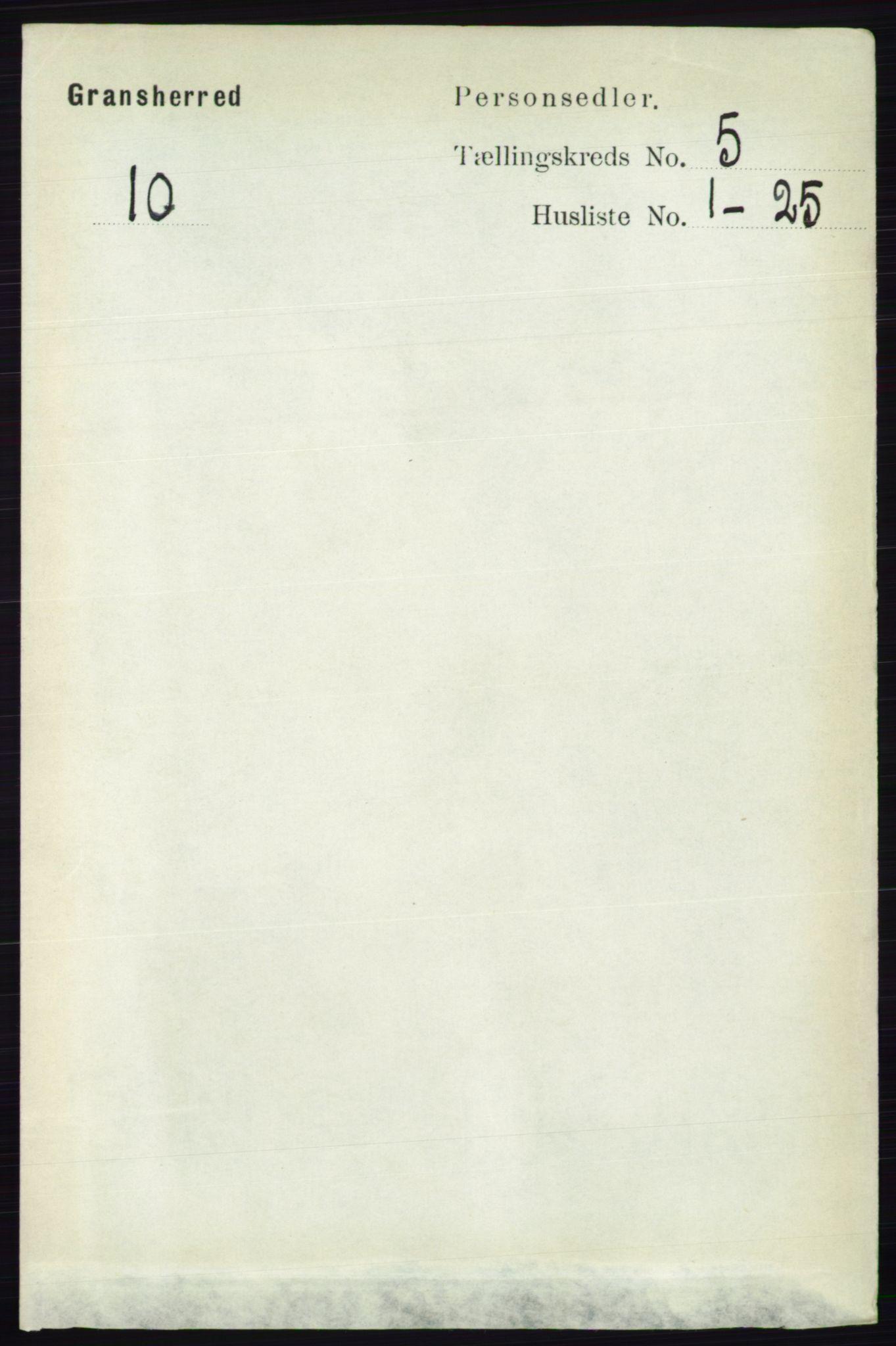 RA, Folketelling 1891 for 0824 Gransherad herred, 1891, s. 850