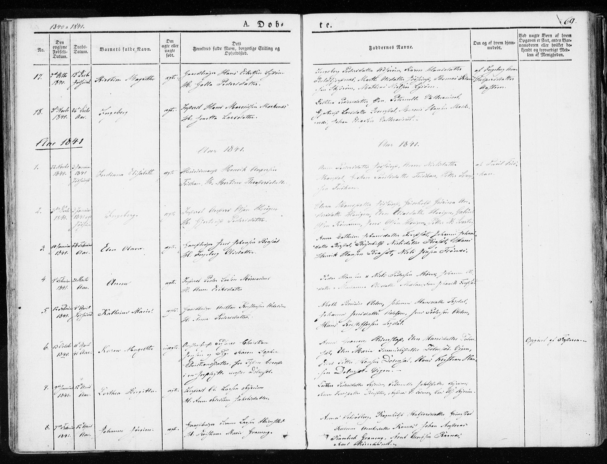 SAT, Ministerialprotokoller, klokkerbøker og fødselsregistre - Sør-Trøndelag, 655/L0676: Ministerialbok nr. 655A05, 1830-1847, s. 69