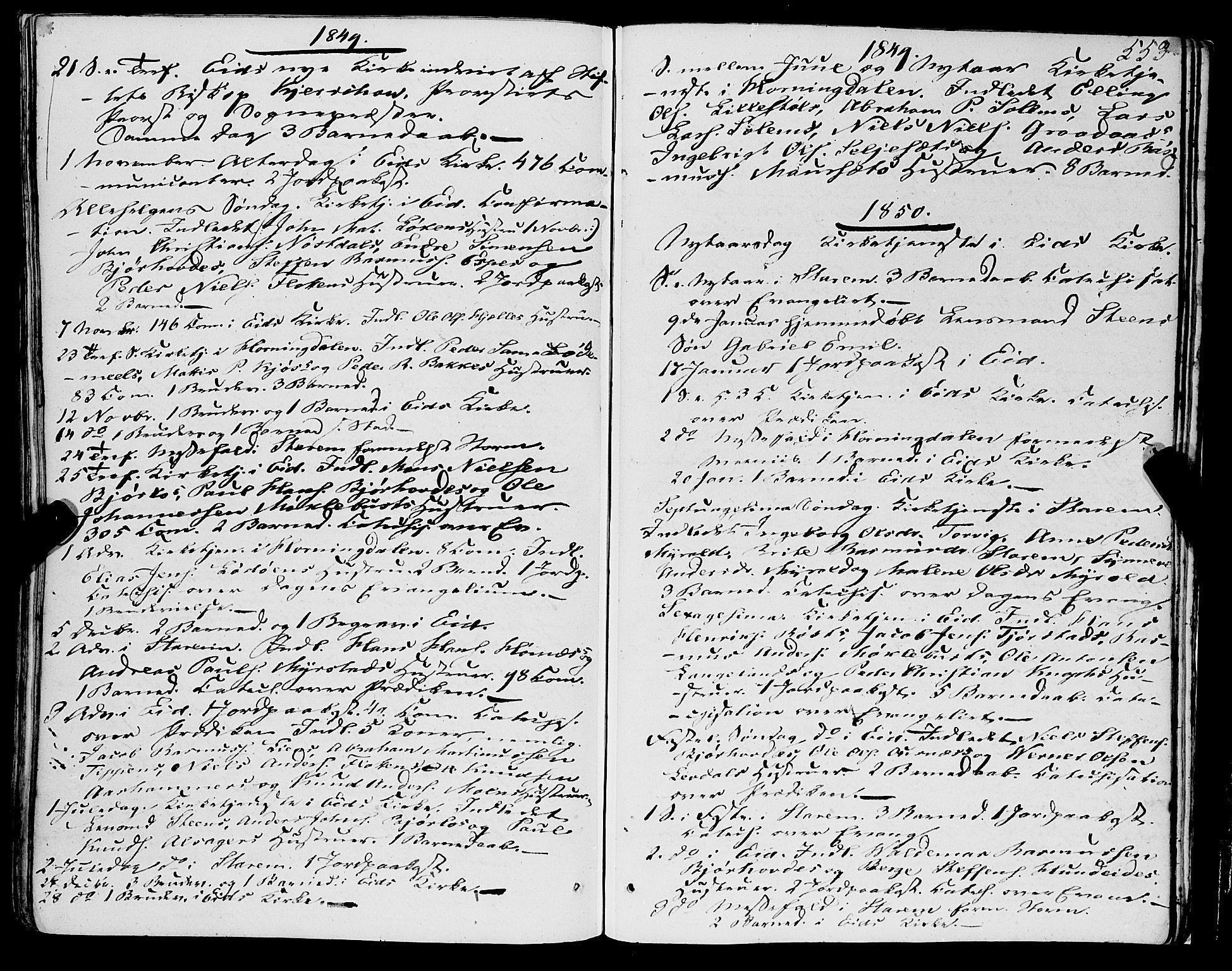 SAB, Eid Sokneprestembete, H/Haa: Ministerialbok nr. A 7, 1844-1858, s. 553