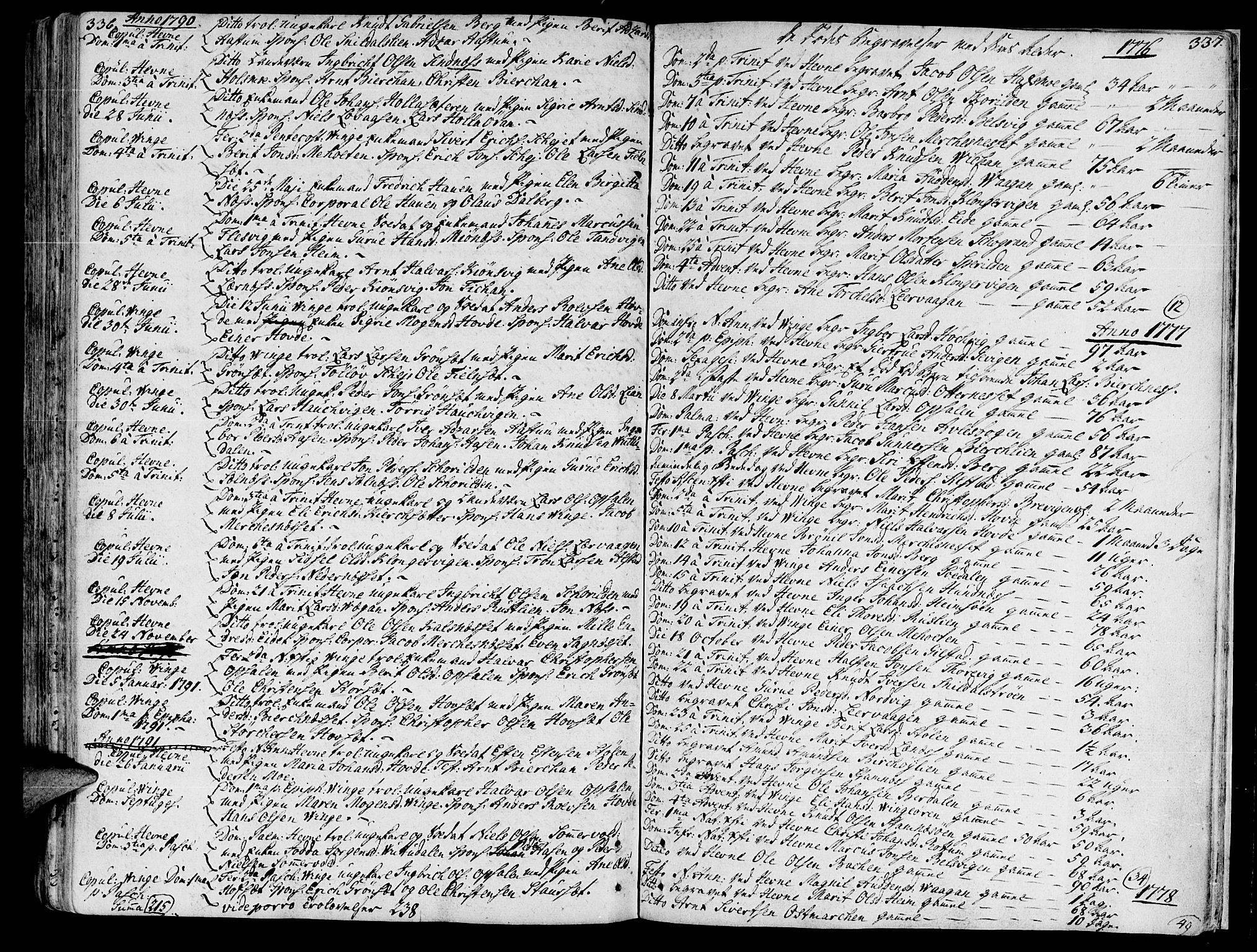 SAT, Ministerialprotokoller, klokkerbøker og fødselsregistre - Sør-Trøndelag, 630/L0489: Ministerialbok nr. 630A02, 1757-1794, s. 336-337