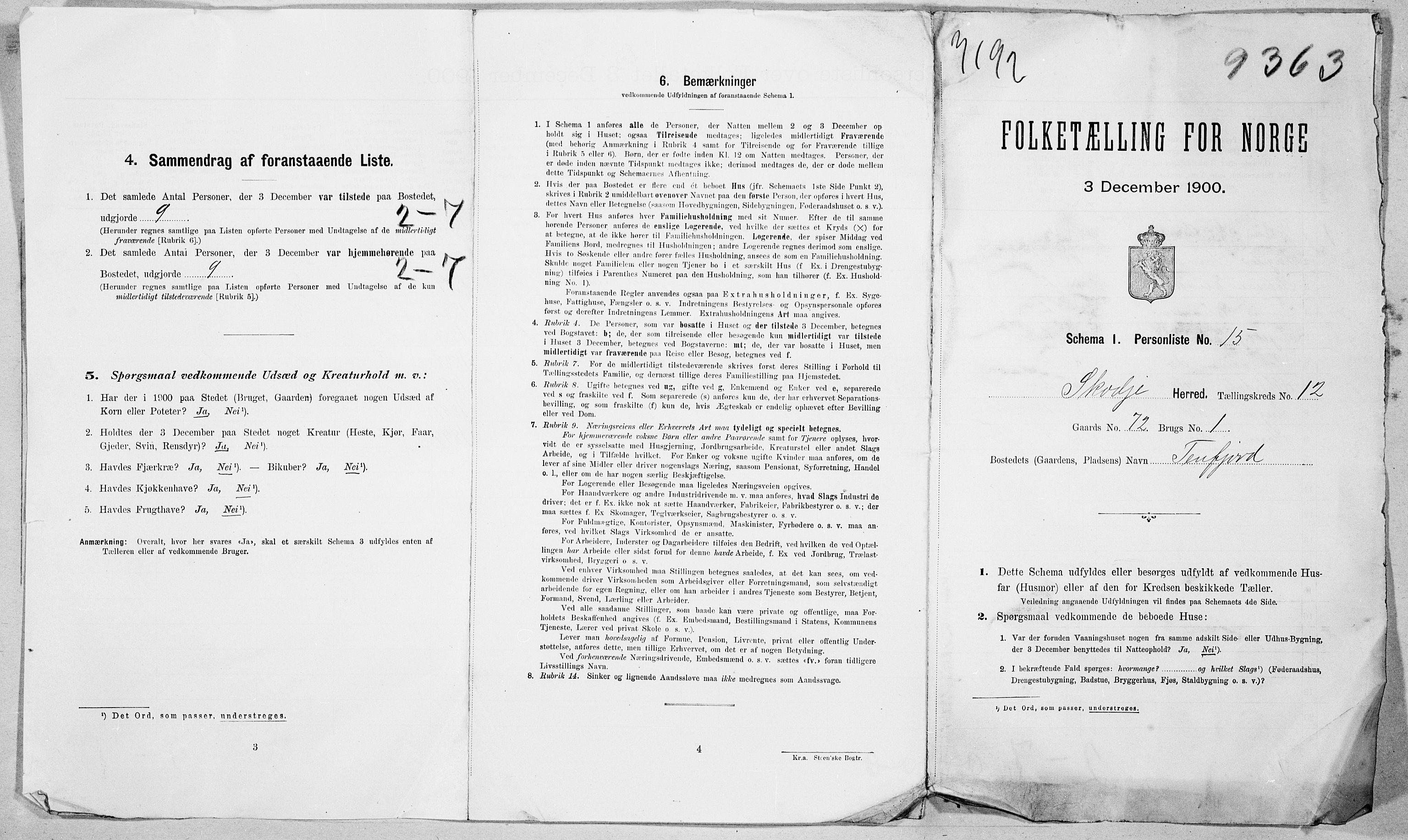 SAT, Folketelling 1900 for 1529 Skodje herred, 1900, s. 49