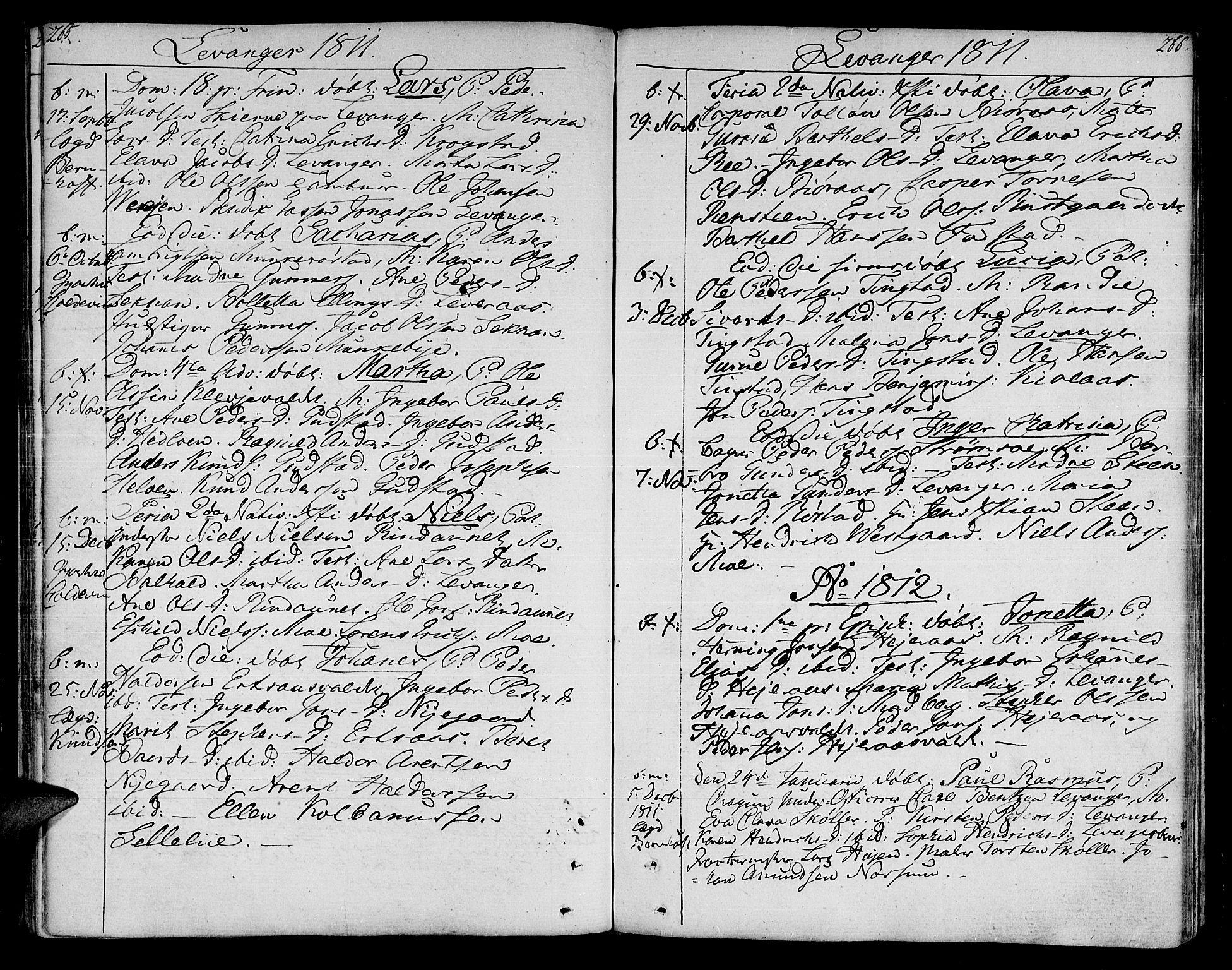 SAT, Ministerialprotokoller, klokkerbøker og fødselsregistre - Nord-Trøndelag, 717/L0145: Ministerialbok nr. 717A03 /3, 1810-1815, s. 265-266