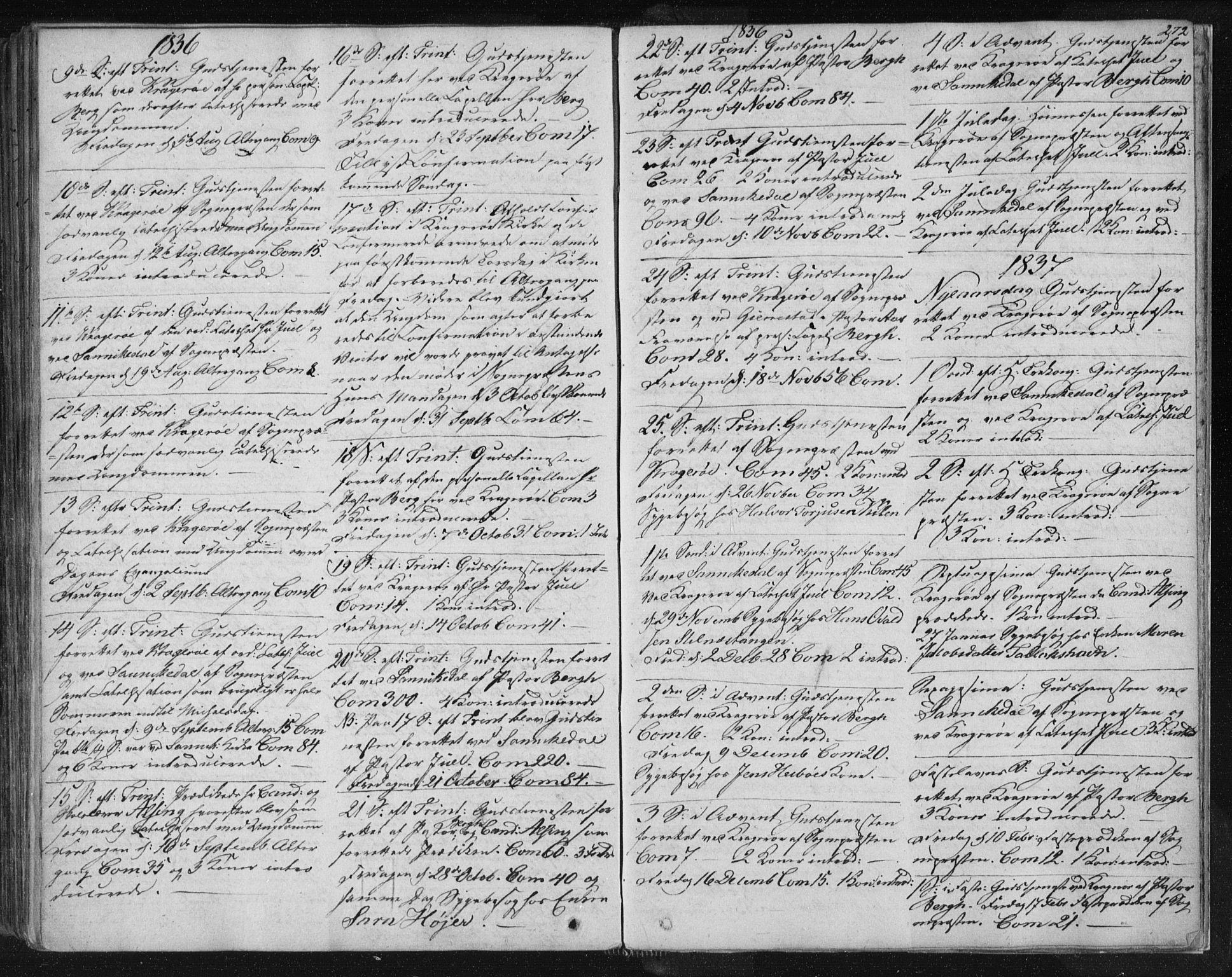 SAKO, Kragerø kirkebøker, F/Fa/L0005: Ministerialbok nr. 5, 1832-1847, s. 272