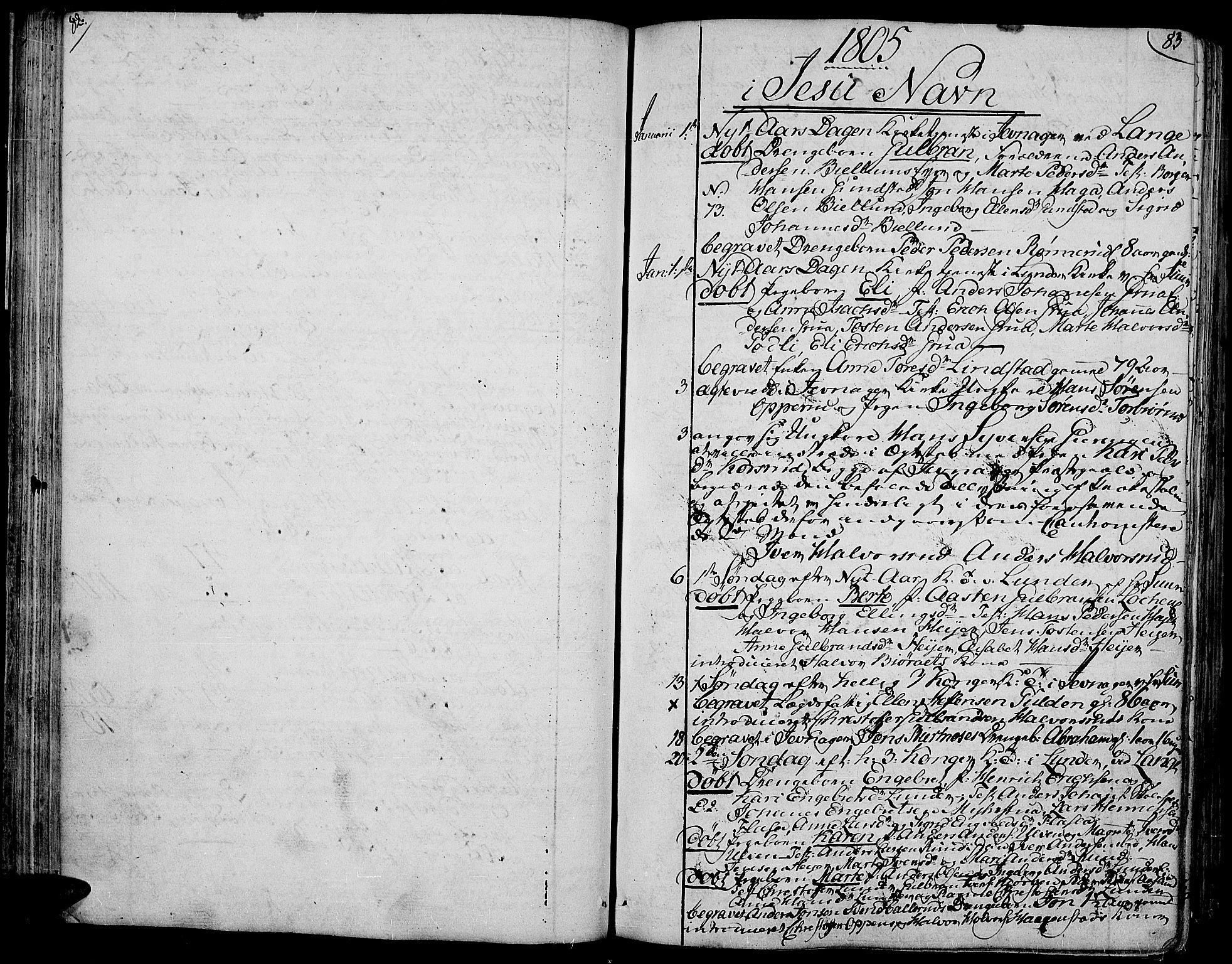SAH, Jevnaker prestekontor, Ministerialbok nr. 4, 1800-1861, s. 82-83