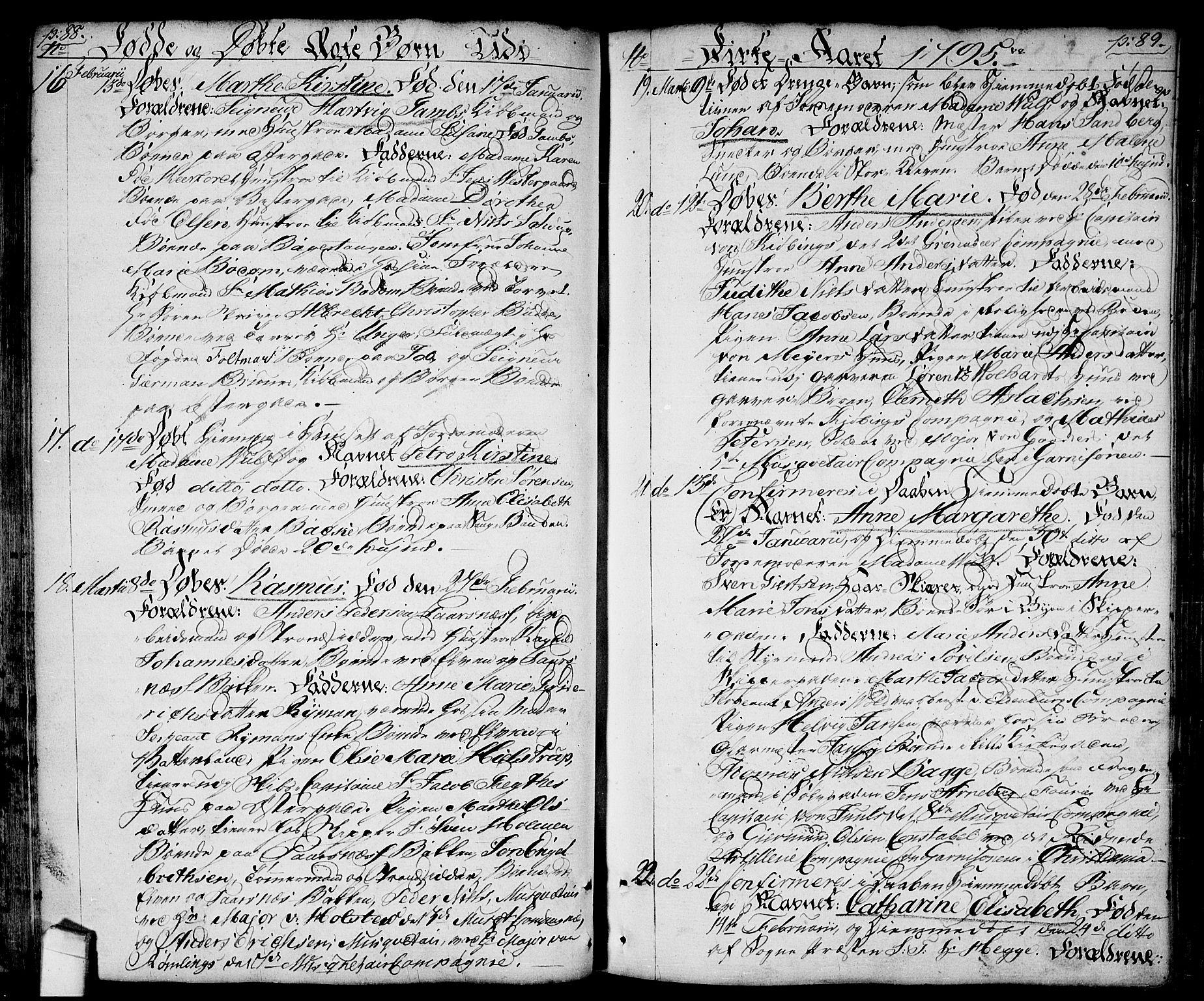SAO, Halden prestekontor Kirkebøker, F/Fa/L0002: Ministerialbok nr. I 2, 1792-1812, s. 88-89