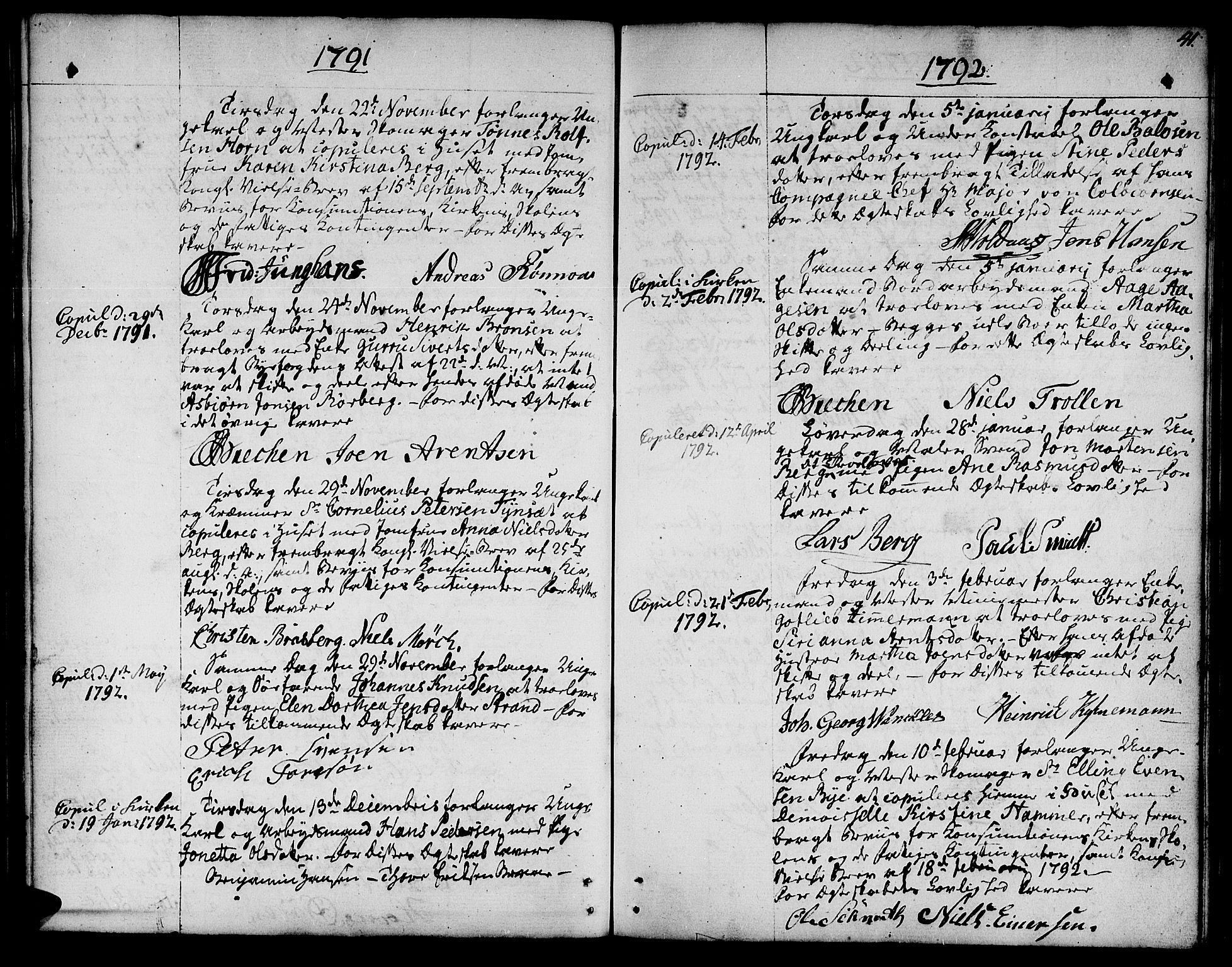 SAT, Ministerialprotokoller, klokkerbøker og fødselsregistre - Sør-Trøndelag, 601/L0041: Ministerialbok nr. 601A09, 1784-1801, s. 41