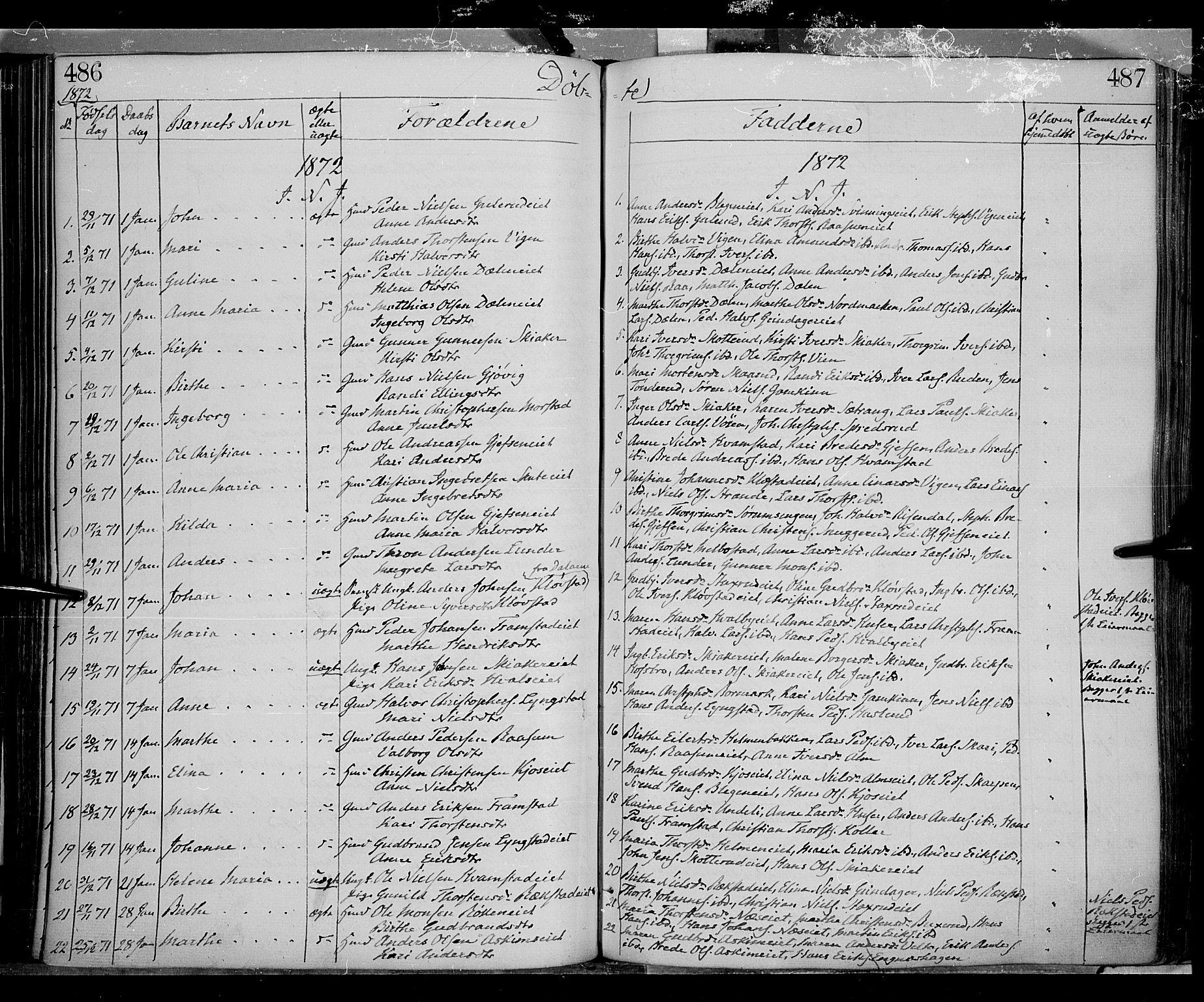SAH, Gran prestekontor, Ministerialbok nr. 12, 1856-1874, s. 486-487