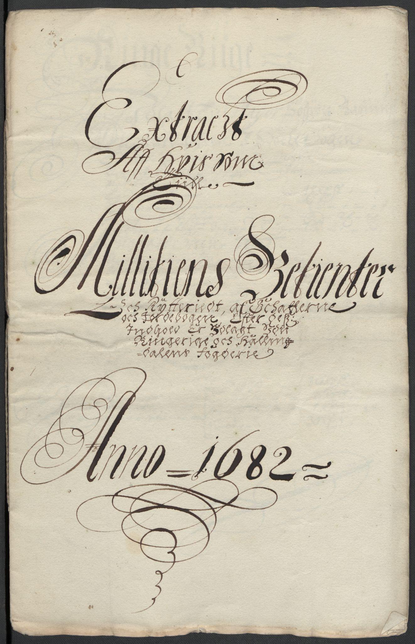 RA, Rentekammeret inntil 1814, Reviderte regnskaper, Fogderegnskap, R21/L1445: Fogderegnskap Ringerike og Hallingdal, 1681-1689, s. 425