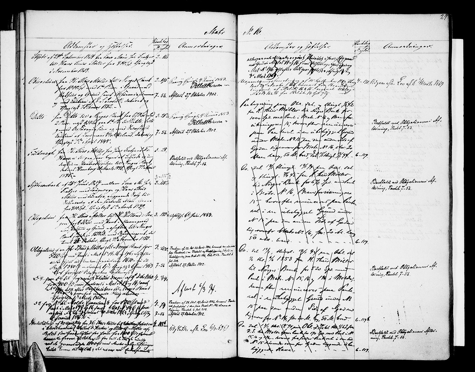 SAT, Molde byfogd, 2/2A/L0005: Panteregister nr. 5, 1823-1835, s. 29