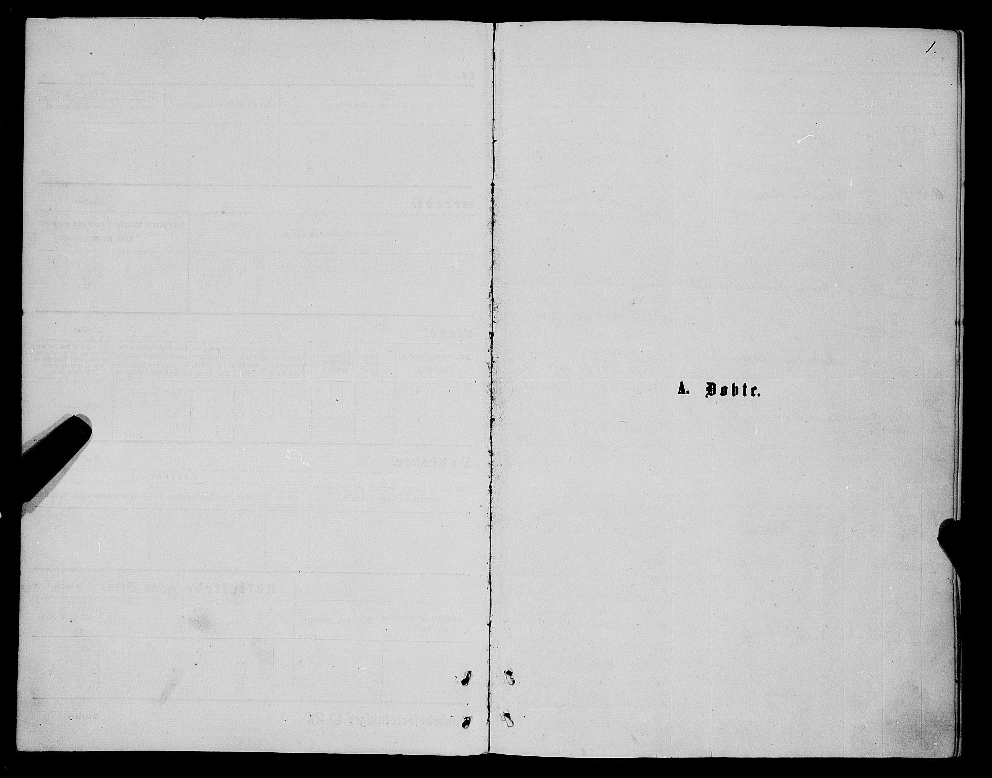 SATØ, Karlsøy sokneprestembete, Ministerialbok nr. 5, 1872-1878, s. 1