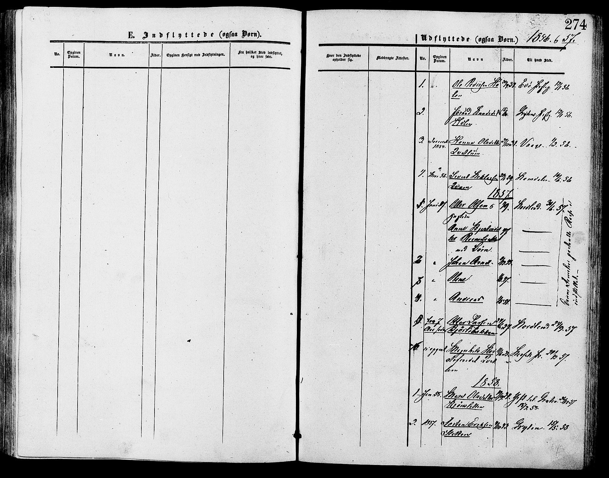 SAH, Lesja prestekontor, Ministerialbok nr. 9, 1854-1889, s. 274