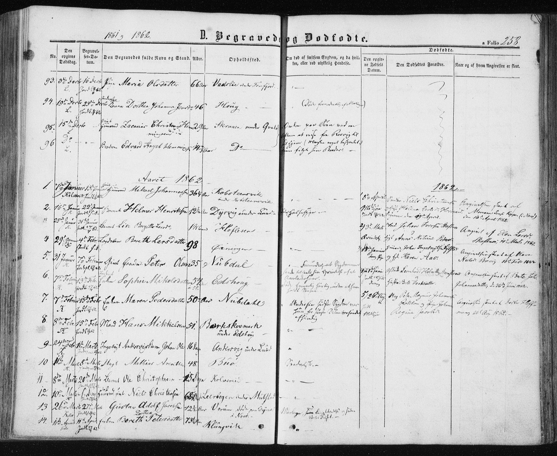 SAT, Ministerialprotokoller, klokkerbøker og fødselsregistre - Nord-Trøndelag, 780/L0641: Ministerialbok nr. 780A06, 1857-1874, s. 258