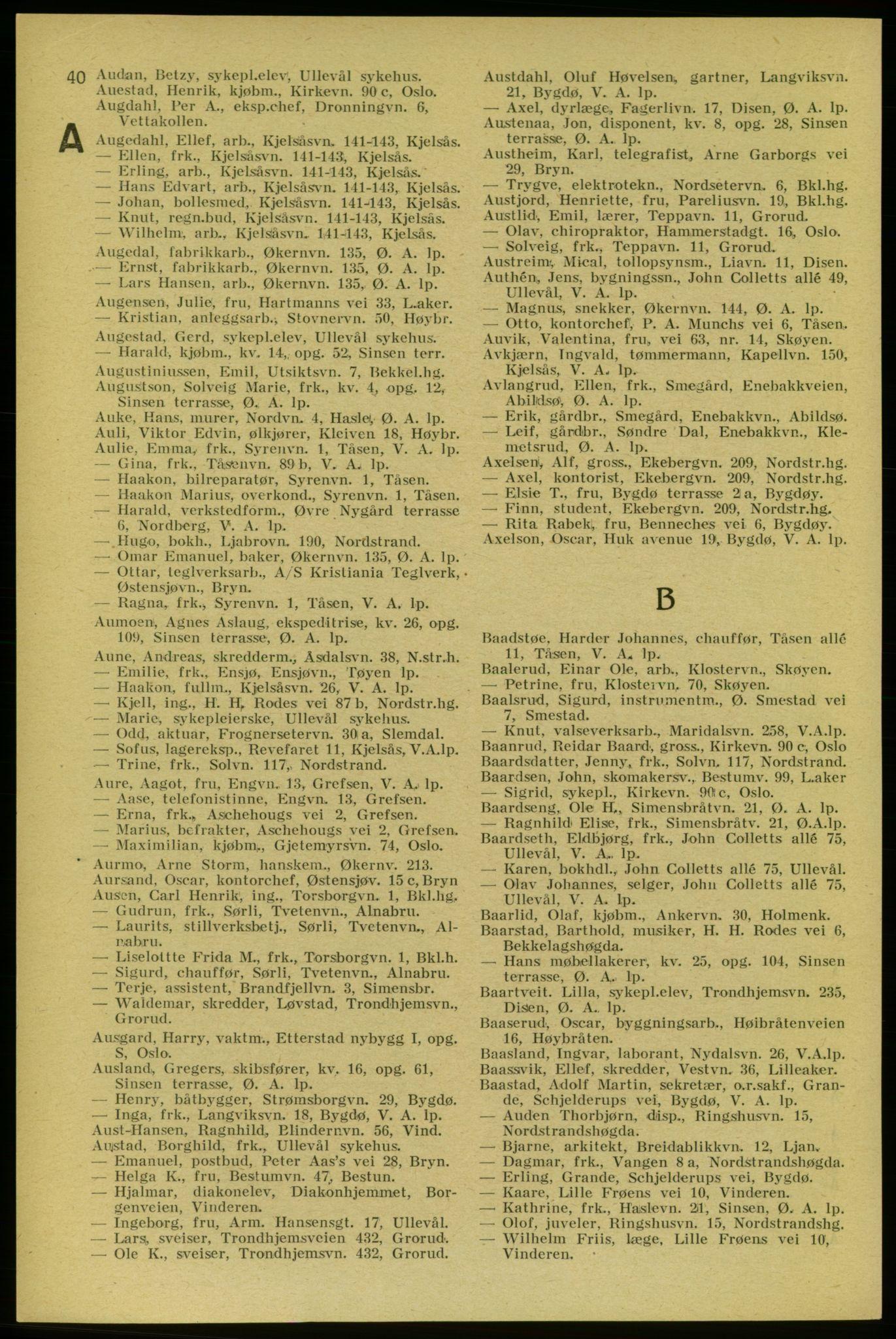 PUBL, Aker adressebok/adressekalender, 1937-1938, s. 40