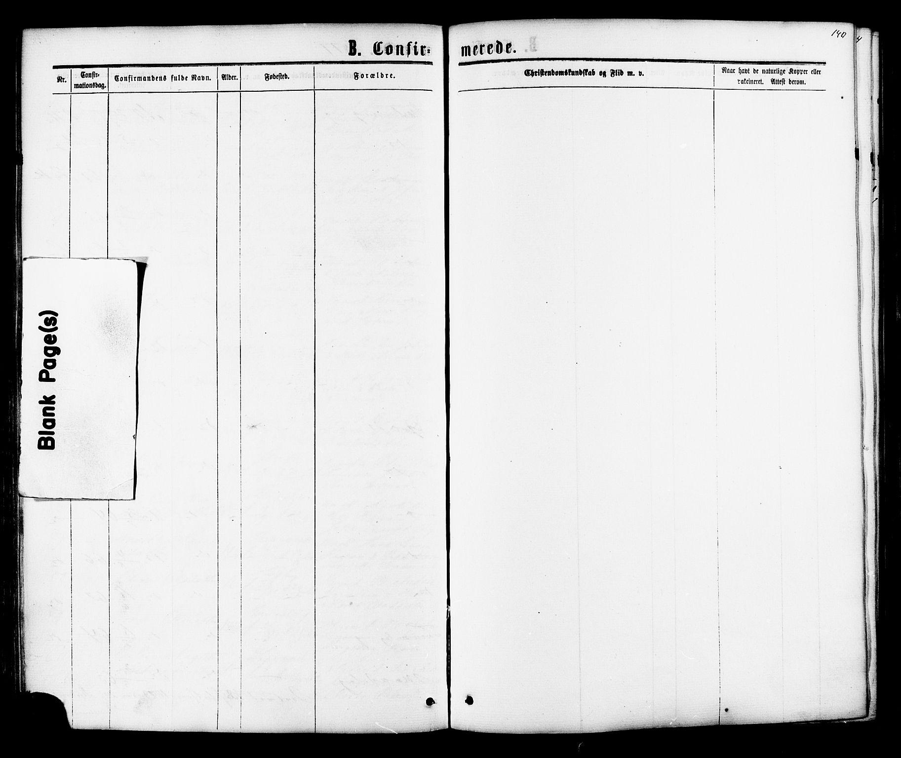 SAT, Ministerialprotokoller, klokkerbøker og fødselsregistre - Sør-Trøndelag, 616/L0409: Ministerialbok nr. 616A06, 1865-1877, s. 140