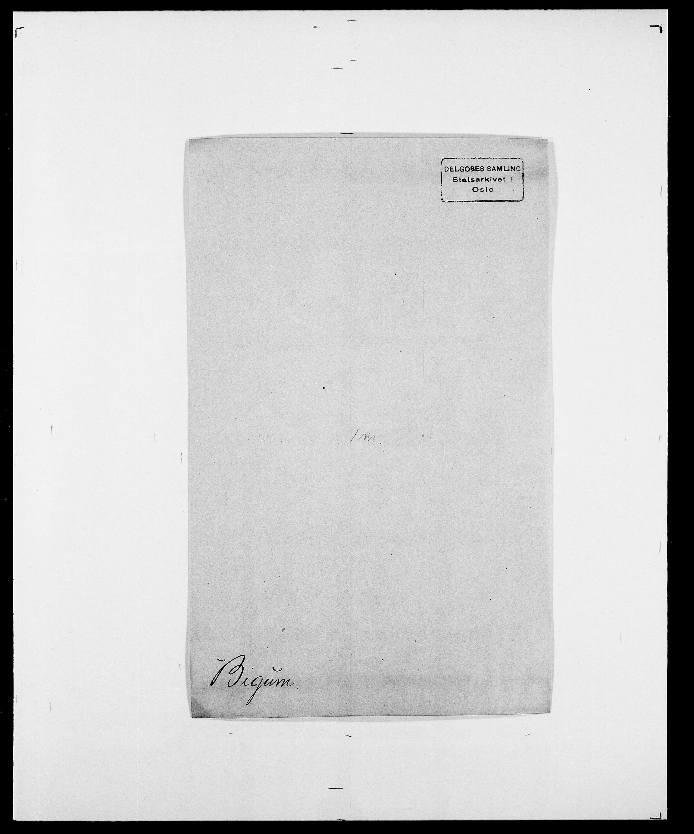 SAO, Delgobe, Charles Antoine - samling, D/Da/L0004: Bergendahl - Blære, s. 259