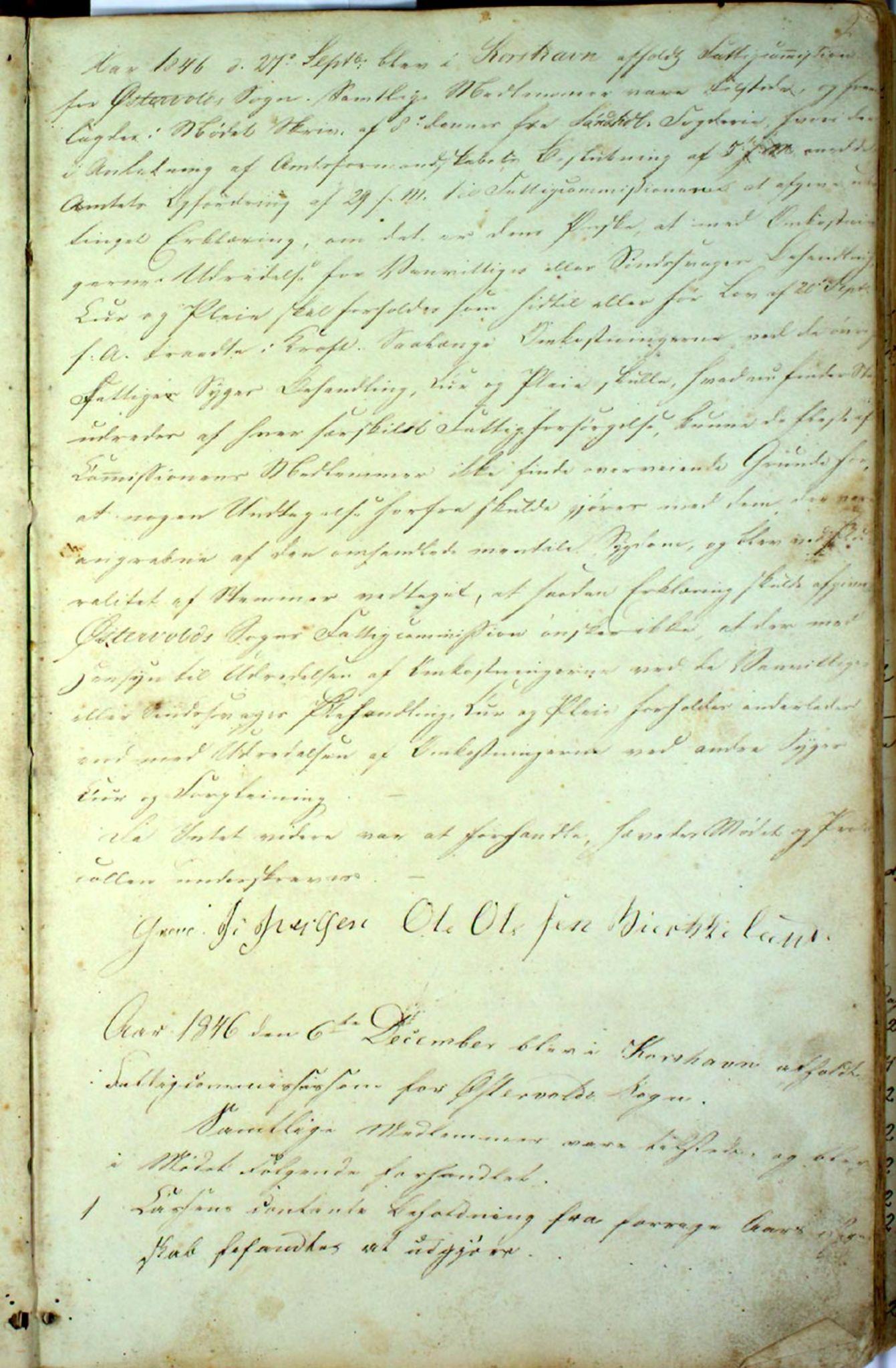IKAH, Austevoll kommune. Fattigstyret, A/Aa/L0001: Møtebok for Møgster fattigkommisjon / fattigstyre, 1846-1922, s. 2a