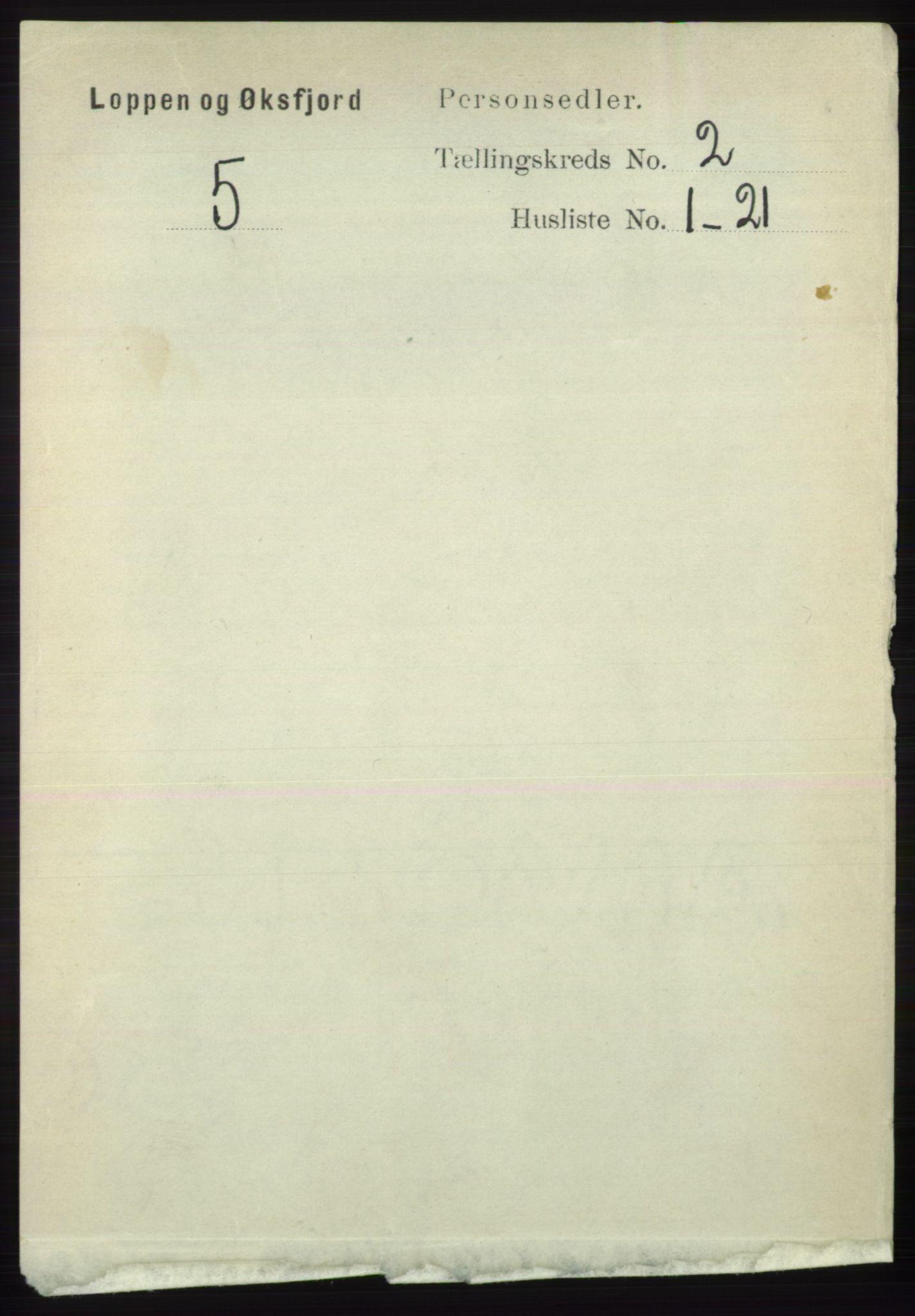 RA, Folketelling 1891 for 2014 Loppa herred, 1891, s. 370