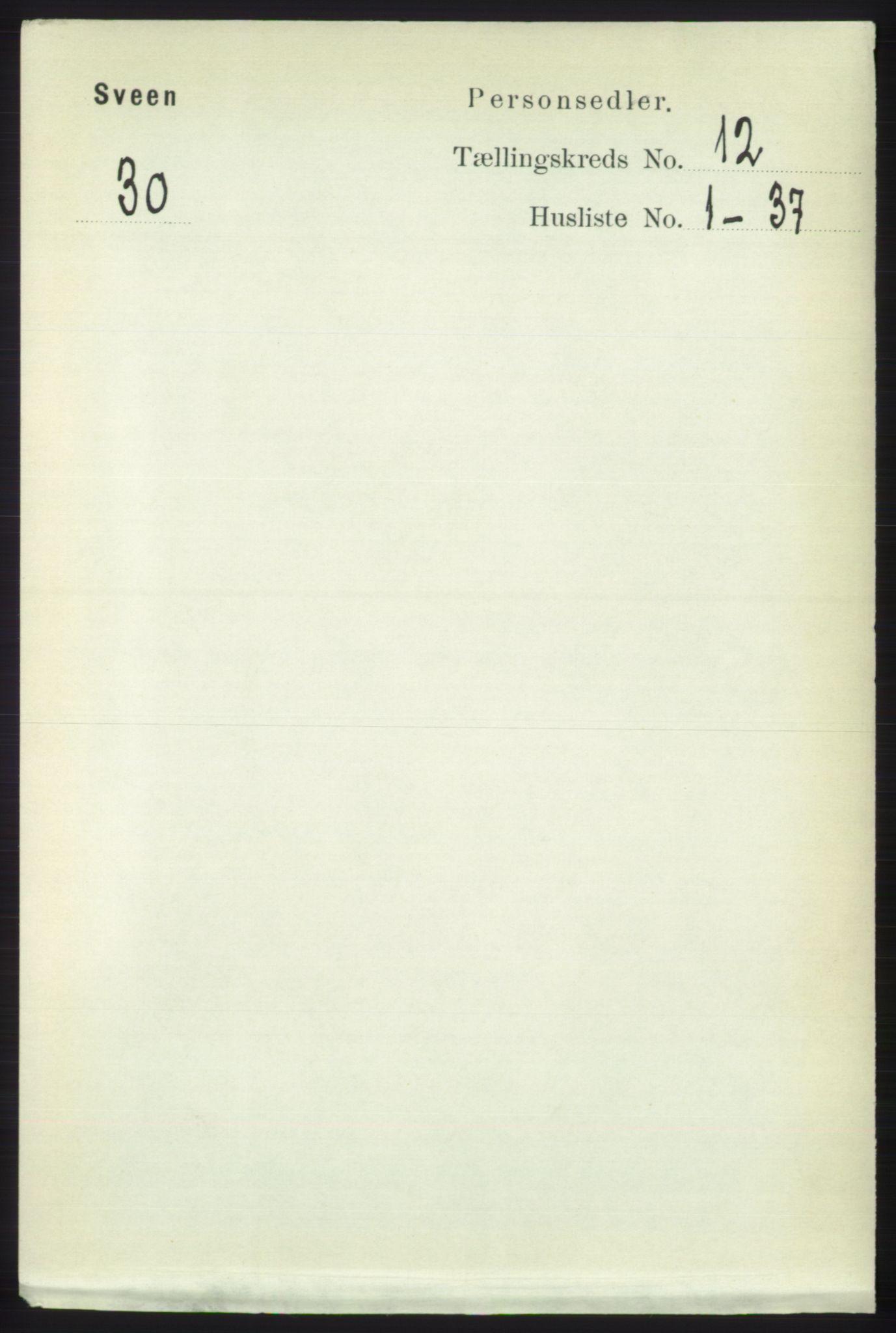 RA, Folketelling 1891 for 1216 Sveio herred, 1891, s. 3429