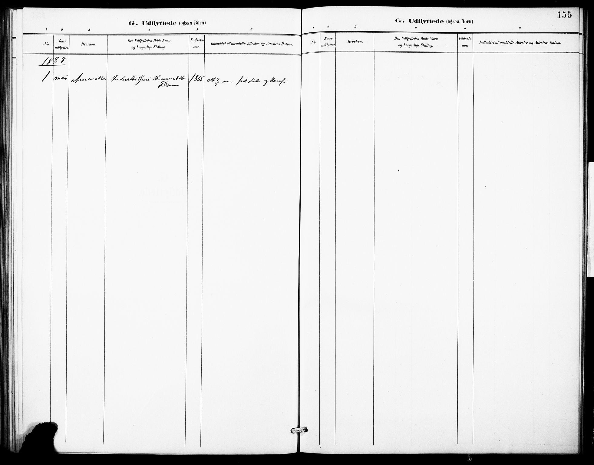 SAB, Aurland Sokneprestembete*, Klokkerbok nr. B 2, 1887-1929, s. 155