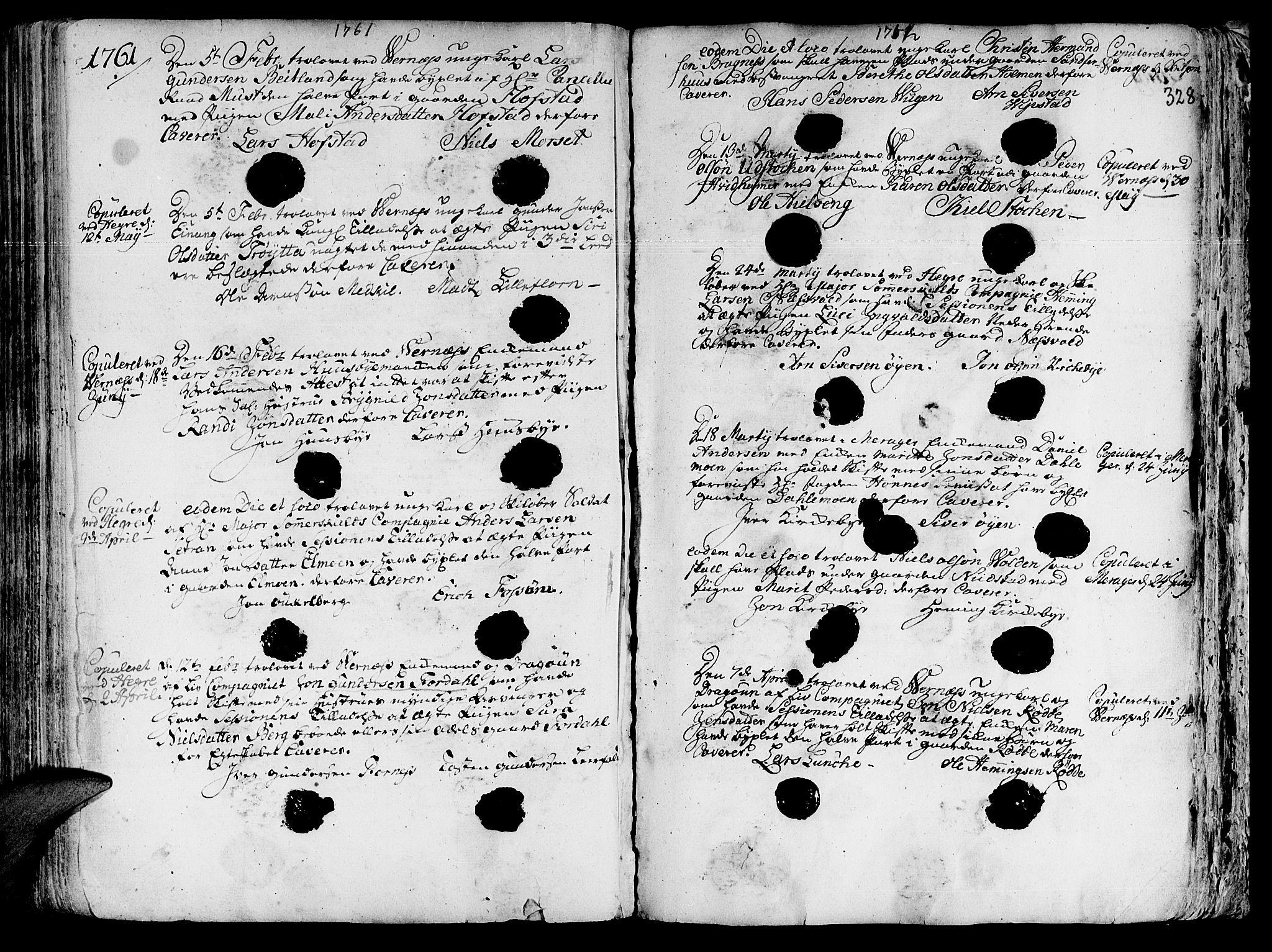 SAT, Ministerialprotokoller, klokkerbøker og fødselsregistre - Nord-Trøndelag, 709/L0057: Ministerialbok nr. 709A05, 1755-1780, s. 328