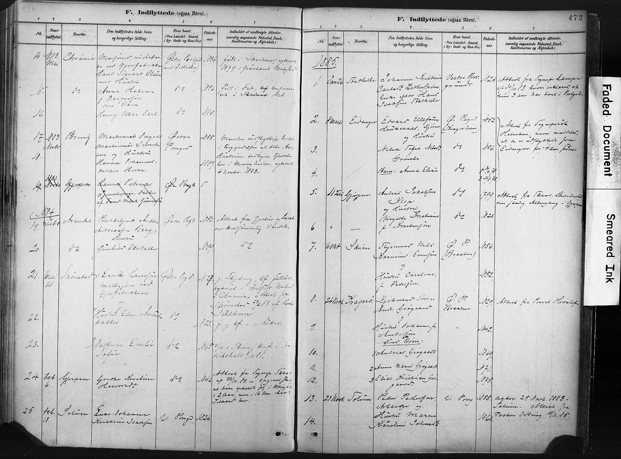 SAKO, Porsgrunn kirkebøker , F/Fa/L0008: Ministerialbok nr. 8, 1878-1895, s. 472