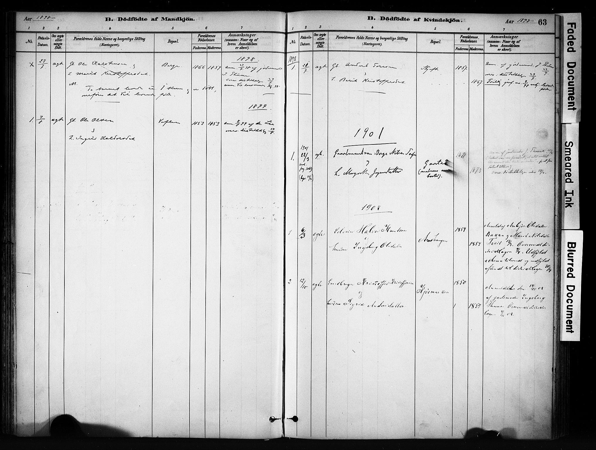 SAH, Vang prestekontor, Valdres, Ministerialbok nr. 9, 1882-1914, s. 63