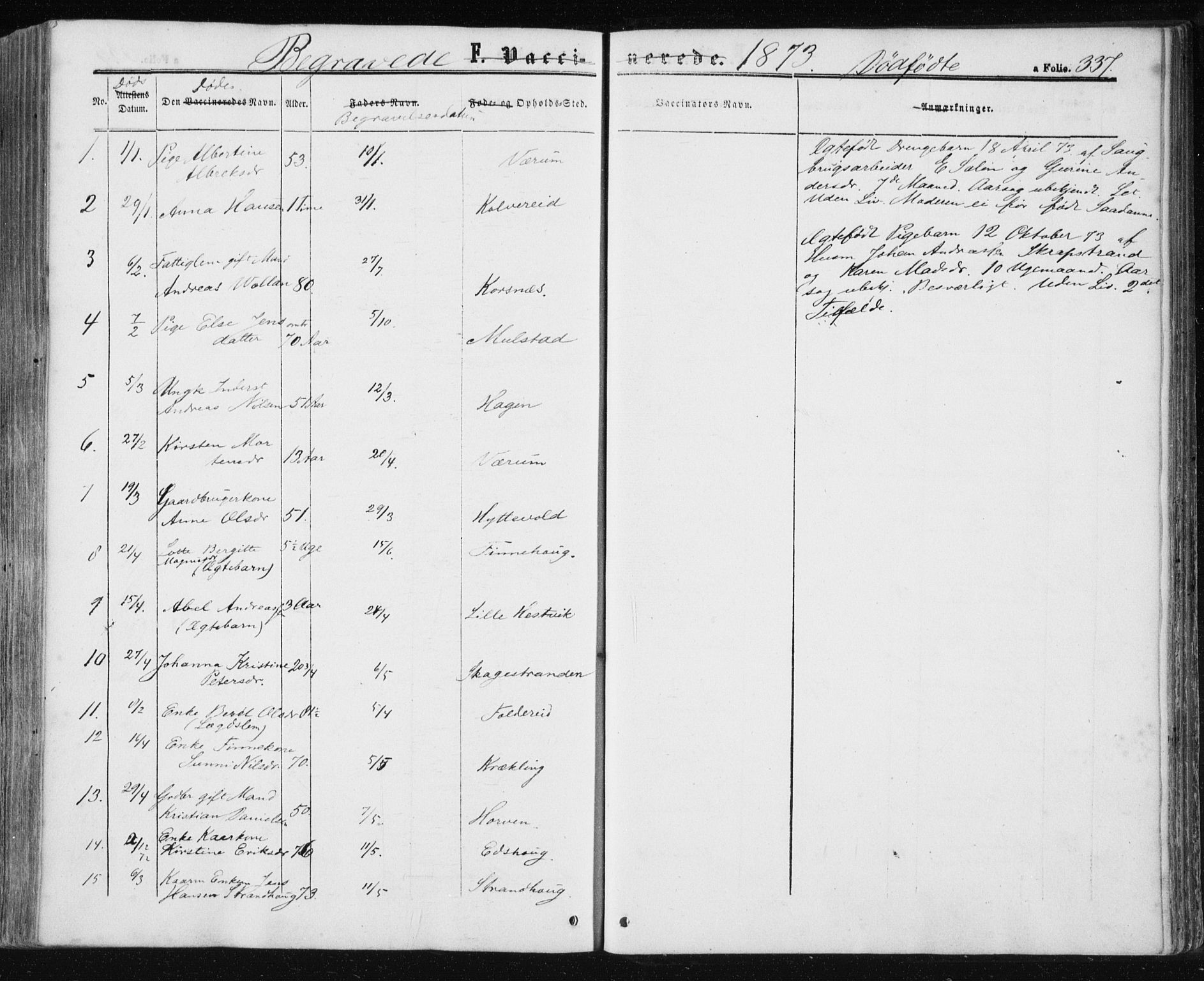 SAT, Ministerialprotokoller, klokkerbøker og fødselsregistre - Nord-Trøndelag, 780/L0641: Ministerialbok nr. 780A06, 1857-1874, s. 337