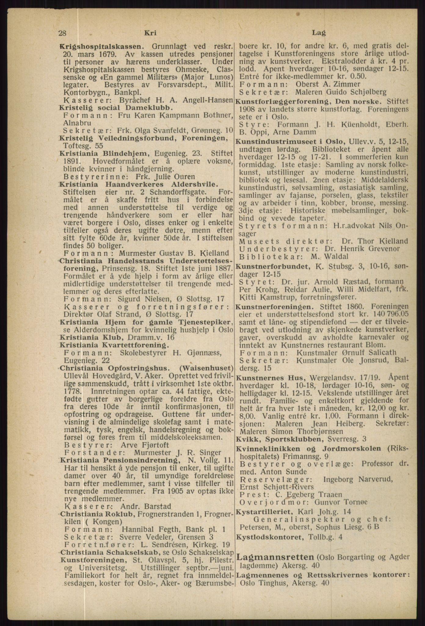 RA, Oslo adressebok (publikasjon)*, 1936, s. 28