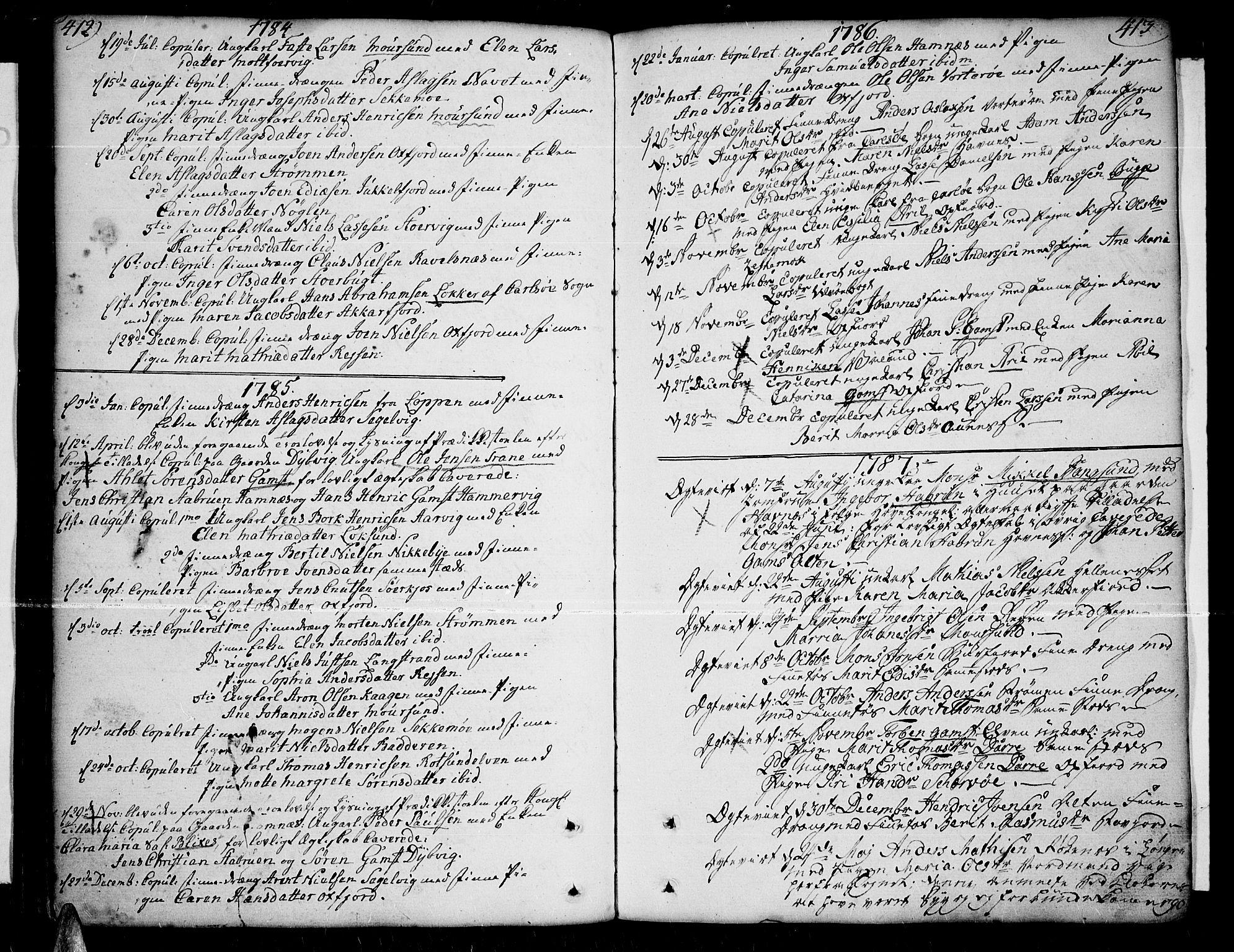 SATØ, Skjervøy sokneprestkontor, H/Ha/Haa/L0002kirke: Ministerialbok nr. 2, 1781-1817, s. 412-413