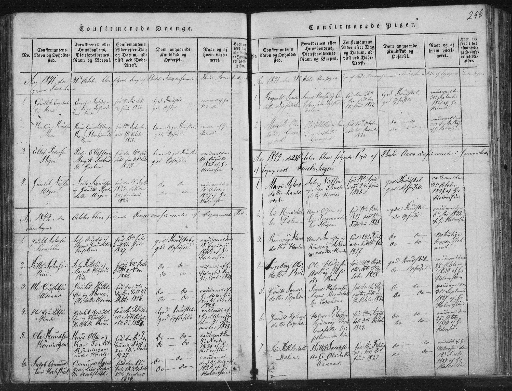 SAKO, Hjartdal kirkebøker, F/Fc/L0001: Ministerialbok nr. III 1, 1815-1843, s. 256