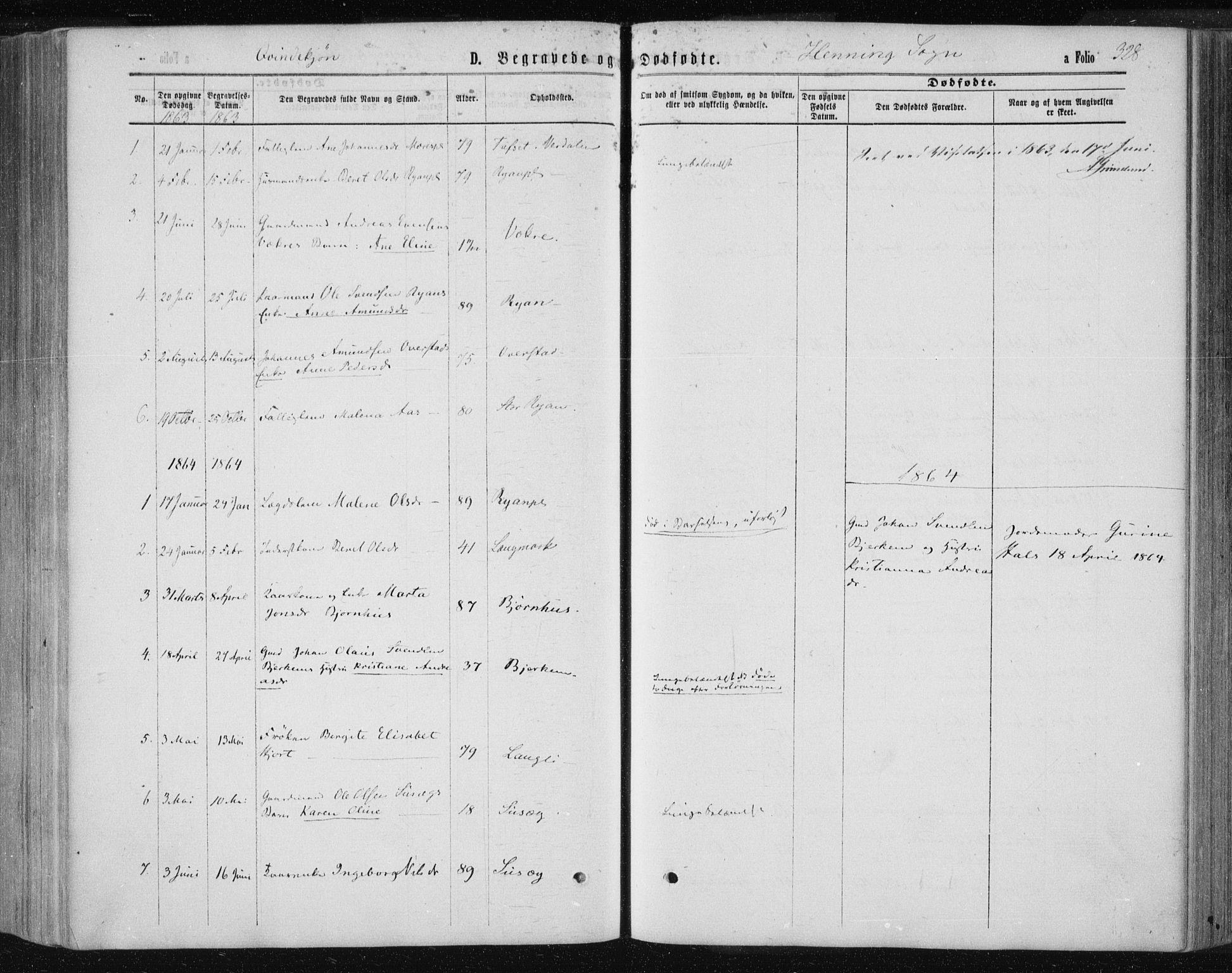 SAT, Ministerialprotokoller, klokkerbøker og fødselsregistre - Nord-Trøndelag, 735/L0345: Ministerialbok nr. 735A08 /3, 1863-1872, s. 328